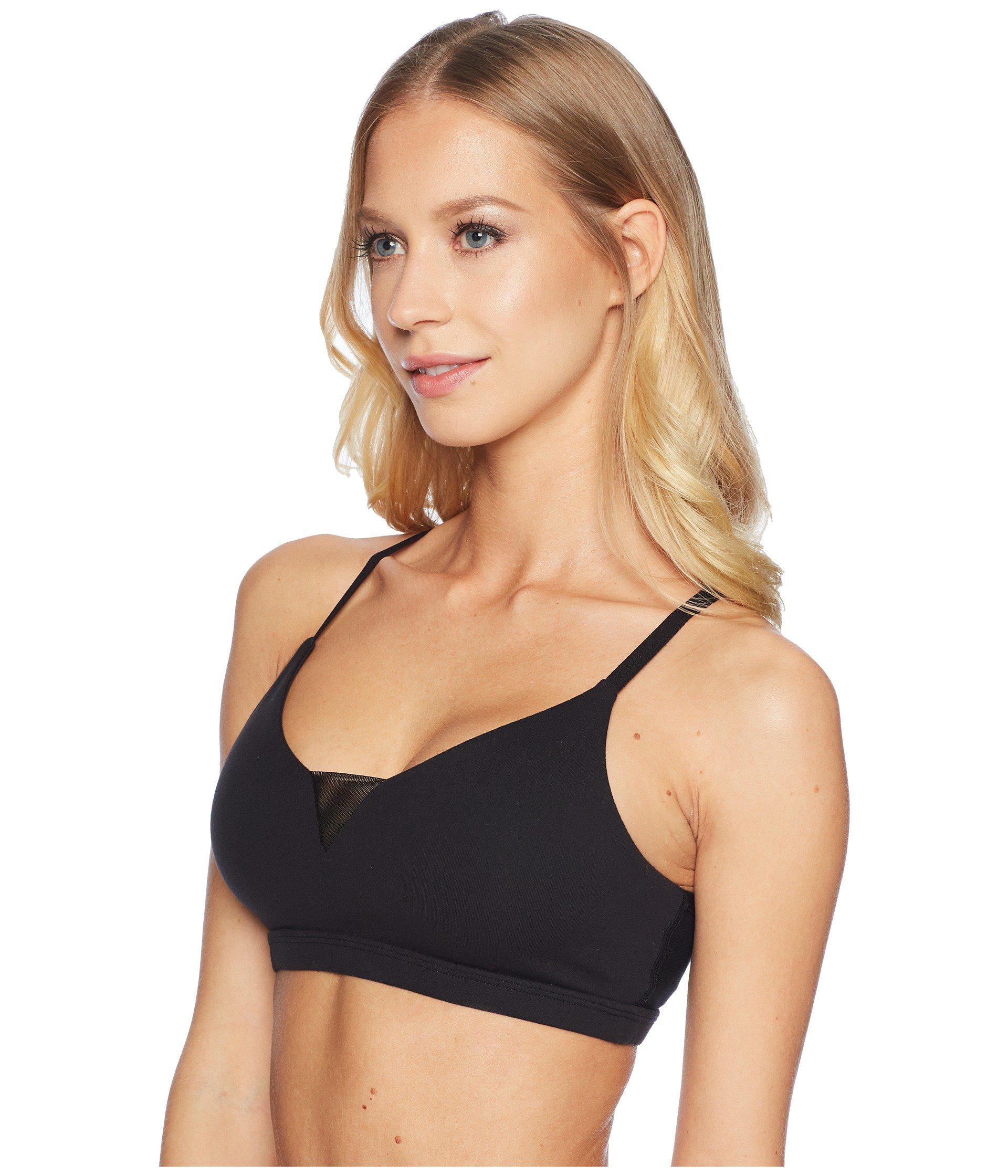 0bb3d90cedf23 Lyst - Beyond Yoga Double Up Bra (jet Black) Women s Bra in Black