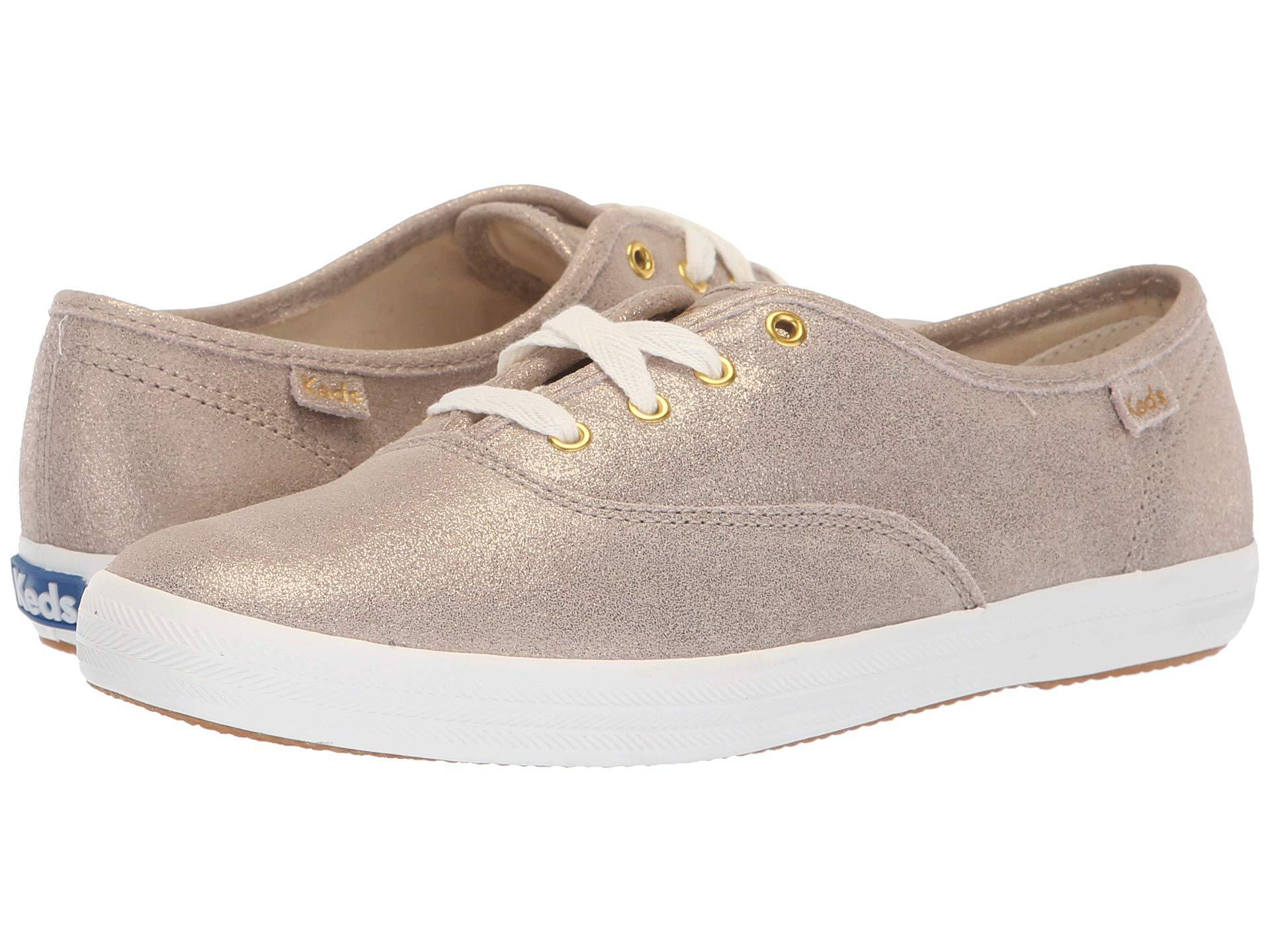 85c4c33e2ecf4 Lyst - Keds Champion Glitter Suede (champagne) Women s Lace Up ...