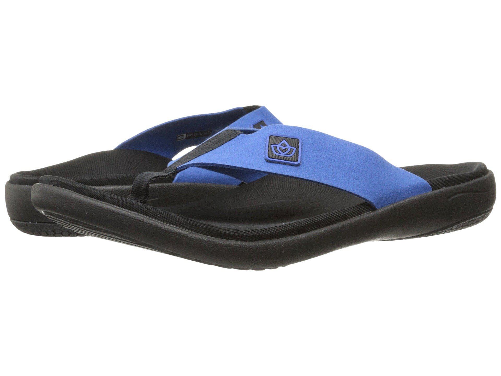 6d2a26f01bdb Lyst - Spenco Pure Sandal (charcoal) Men s Shoes in Blue for Men ...