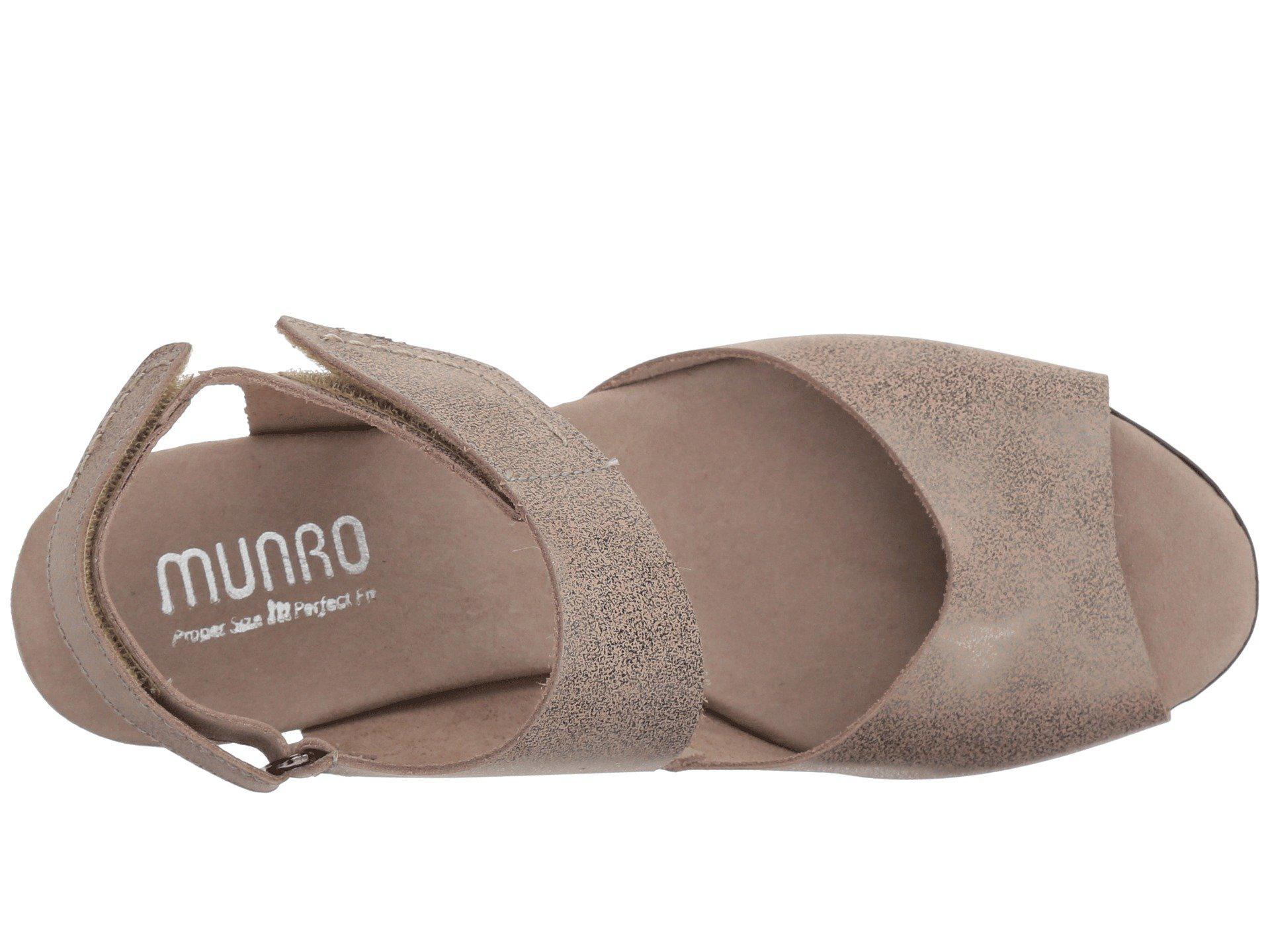 f79f4657181 Munro - Multicolor Fabiana (black Nubuck) Women s Sandals - Lyst. View  fullscreen