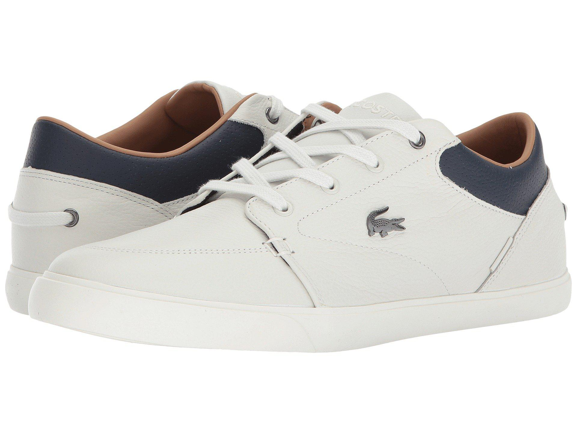 21f6263ea Lyst - Lacoste Bayliss 118 1 (off-white navy) Men s Shoes in White ...