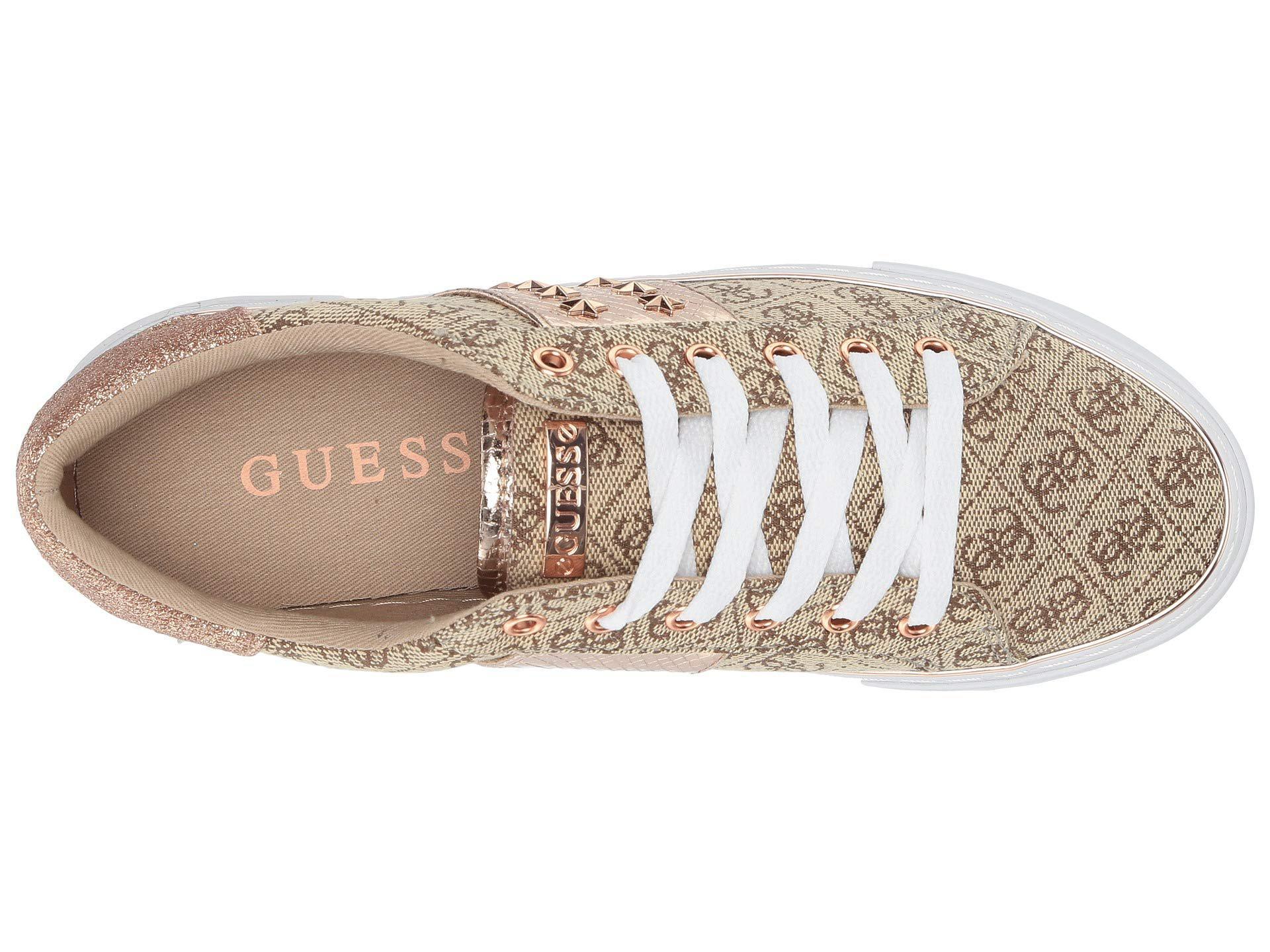 Lyst - Guess Gamer (beige light Brown rose Gold Fabric) Women s Lace ... 152d74174b5