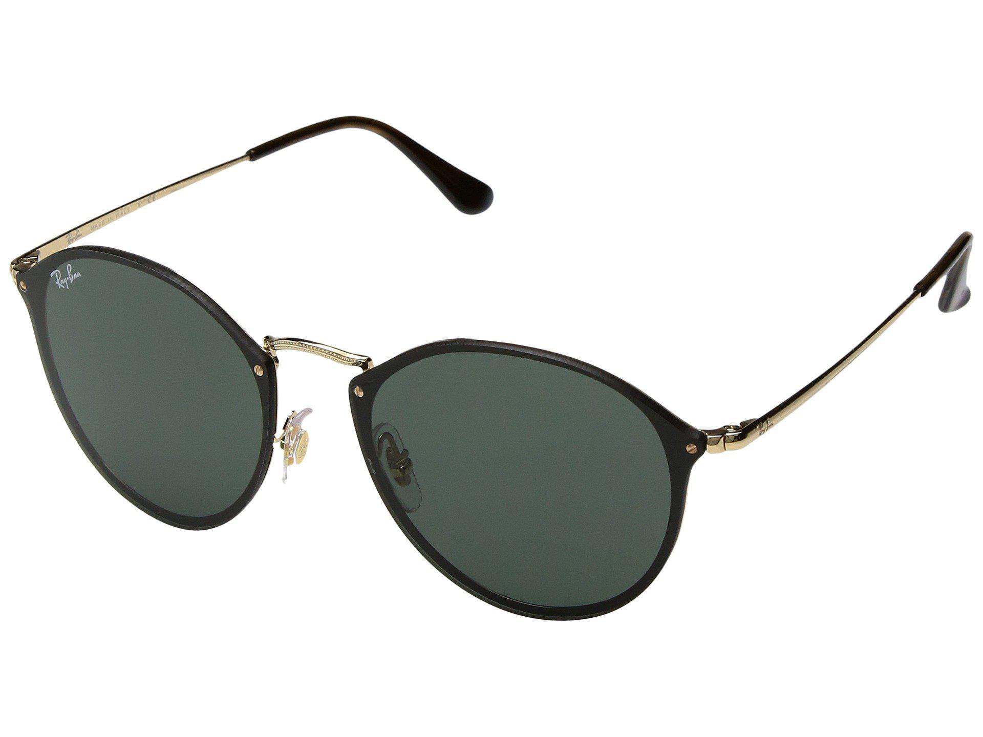 03f9ba91bc Ray-Ban. Women s Blaze Round Rb3574n 59mm (gold green Classic) Fashion  Sunglasses