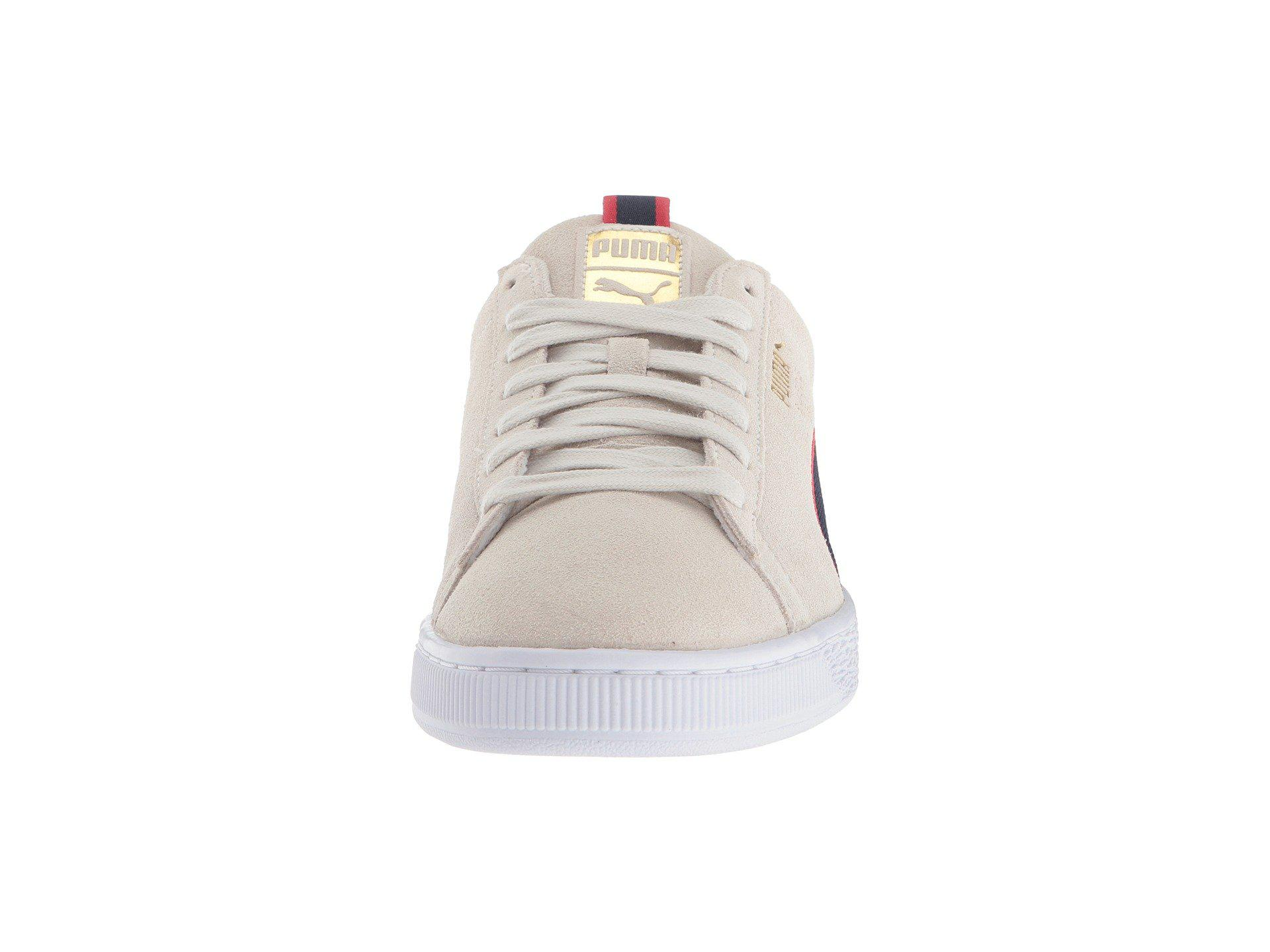 Suede Classic Sport Stripes (vaporous Grayiron Gatebuckthorn Brown) Men's Shoes