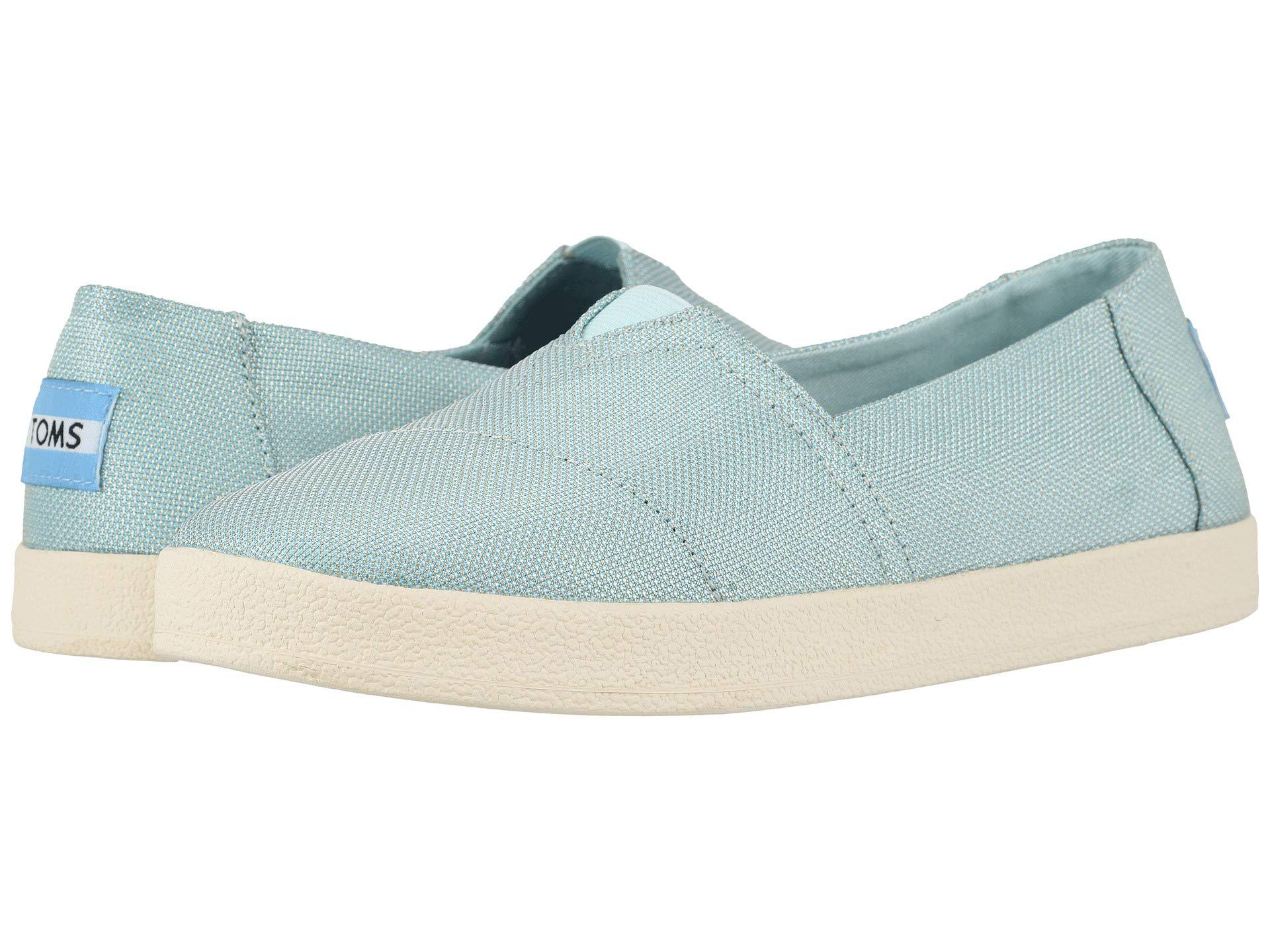 c7e8a91f58d TOMS - Blue Avalon (bloom Slubby Cotton) Women s Shoes - Lyst. View  fullscreen