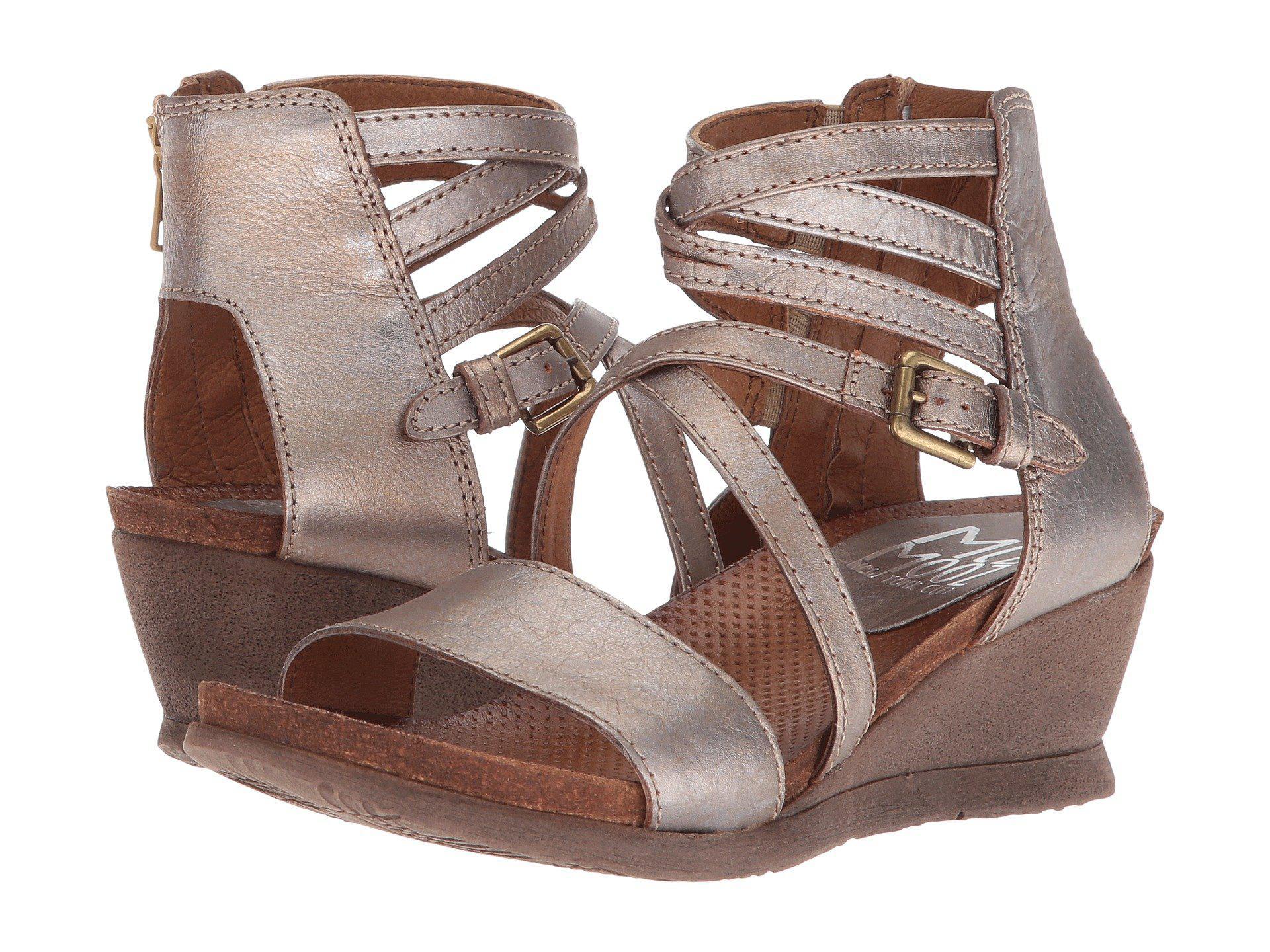 65aee6f953d4 Lyst - Miz Mooz Shay (pebble) Women s Wedge Shoes in Brown