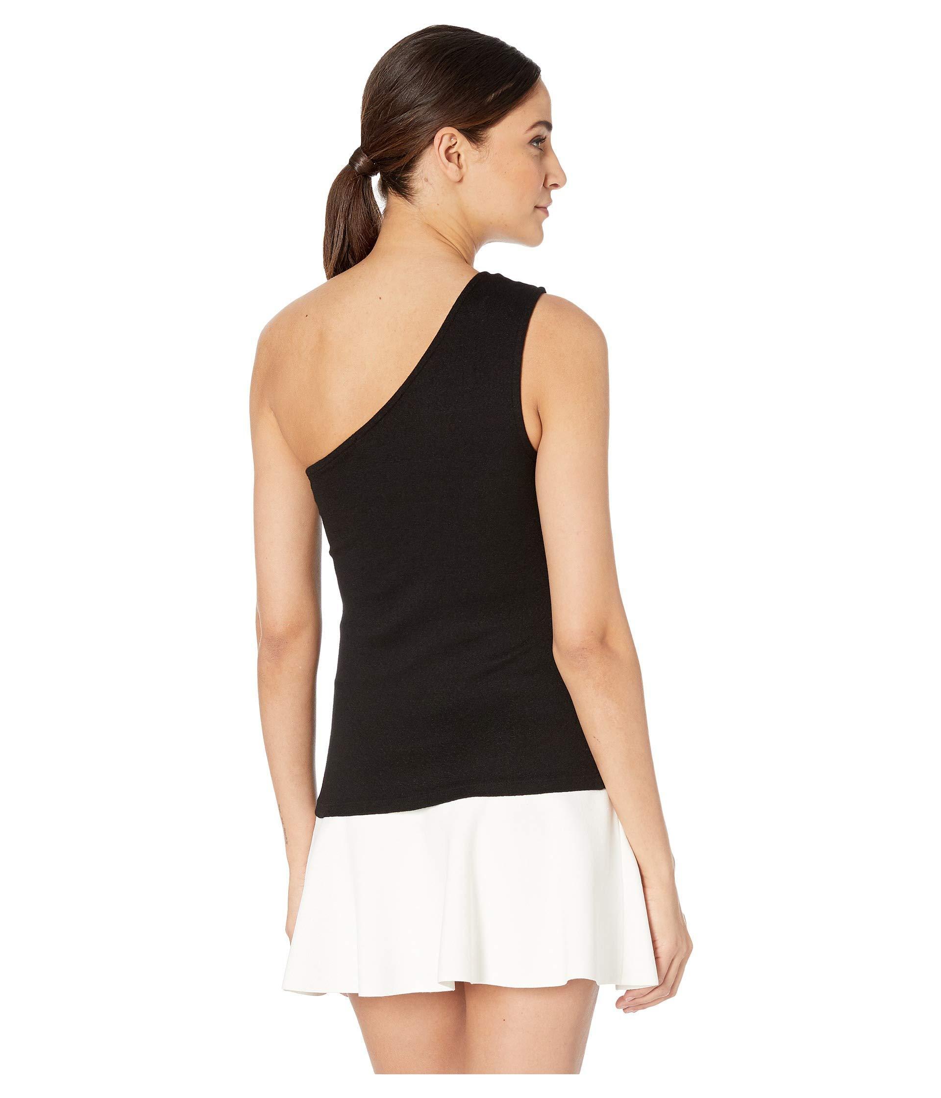 b07a13dd5a9 ... Demi Shine One Shoulder Tank (black) Women's Clothing - Lyst. View  fullscreen
