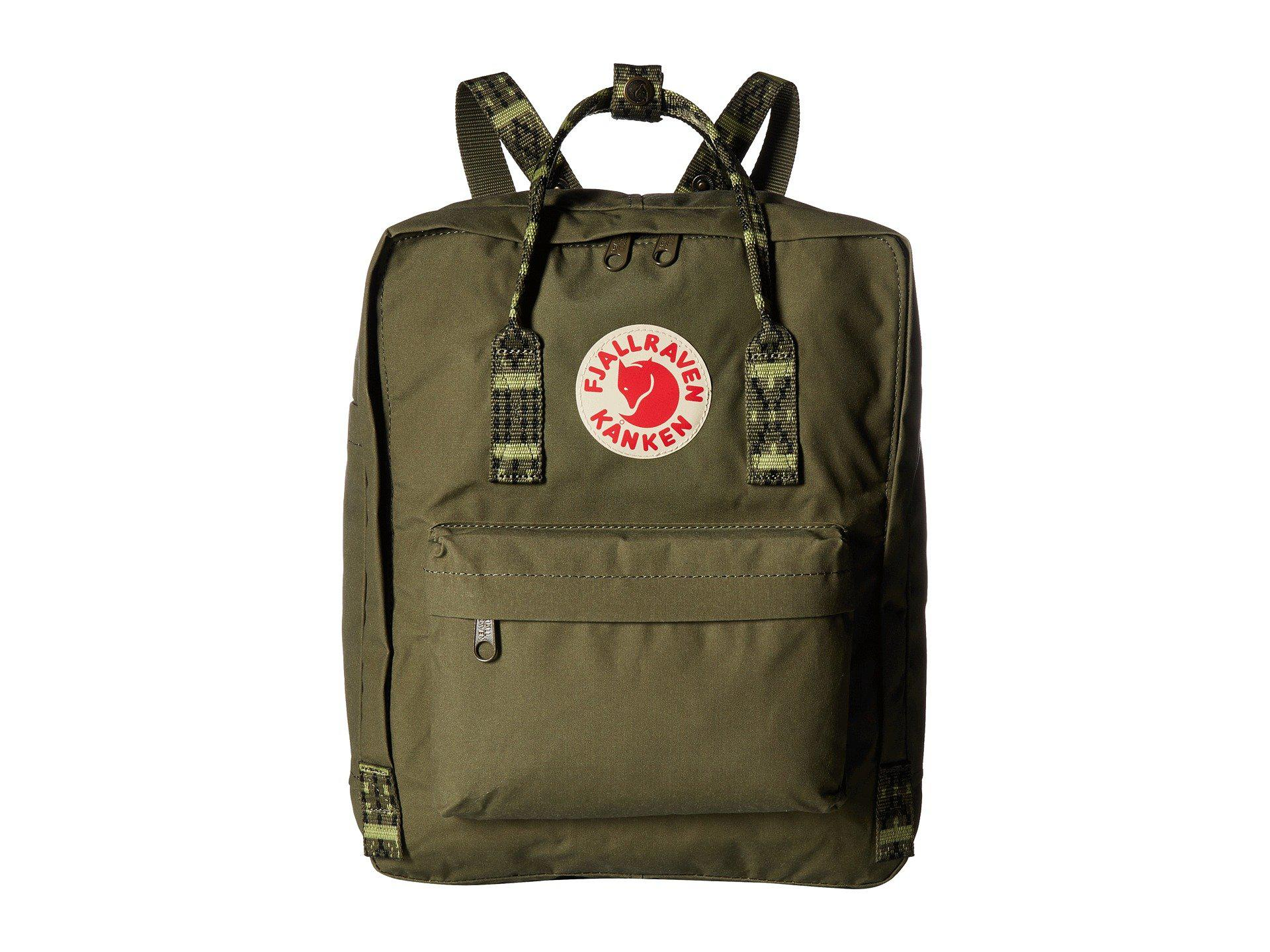 Lyst Fjallraven Kanken Fog Striped Backpack Bags In Green For Men Classic Royal Blue Pinstripe Pattern Mens