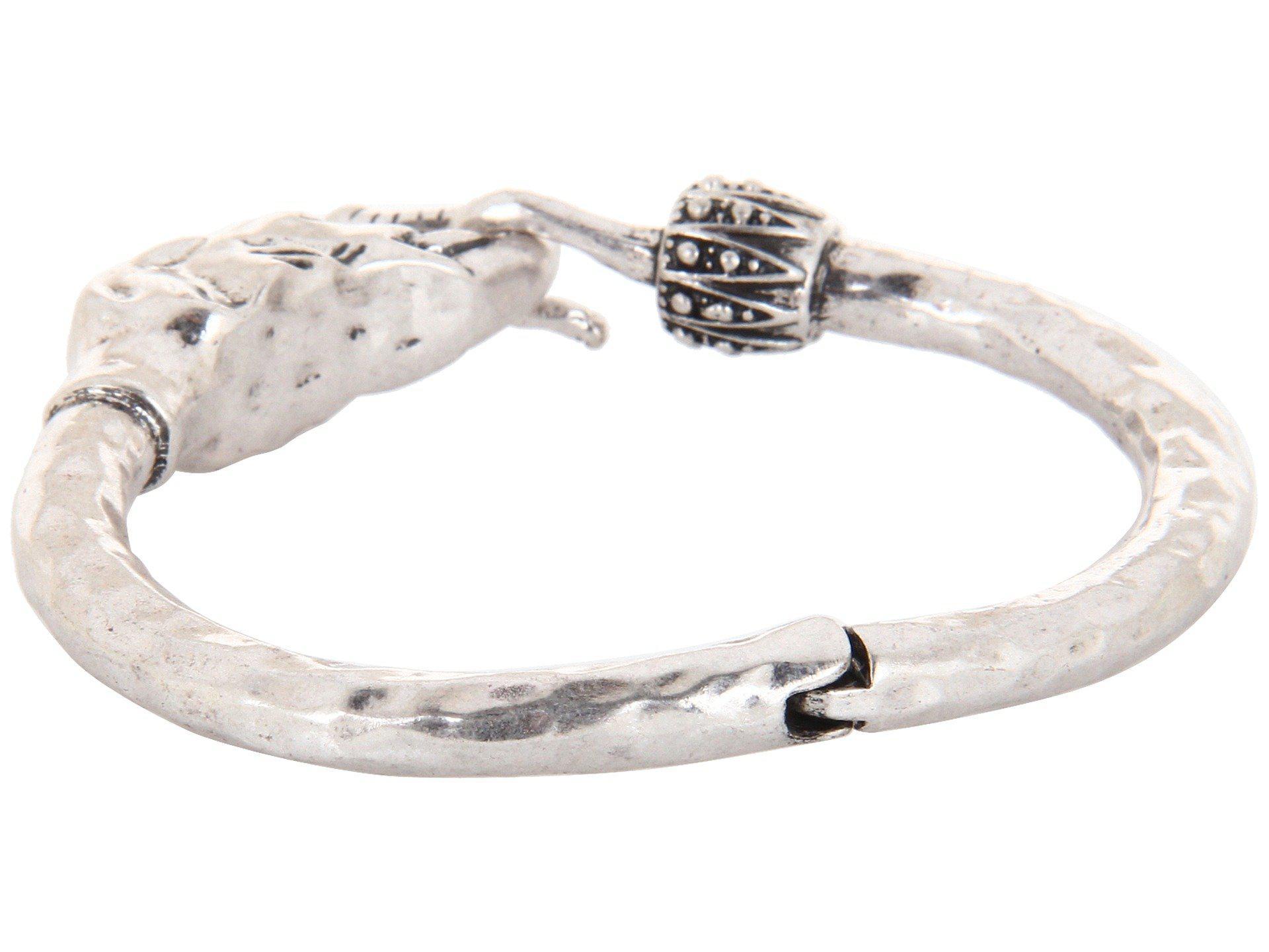 Lucky Brand Bombay Fillagree Elephant Cuff (Silver) Bracelet C8C4uCpF7x