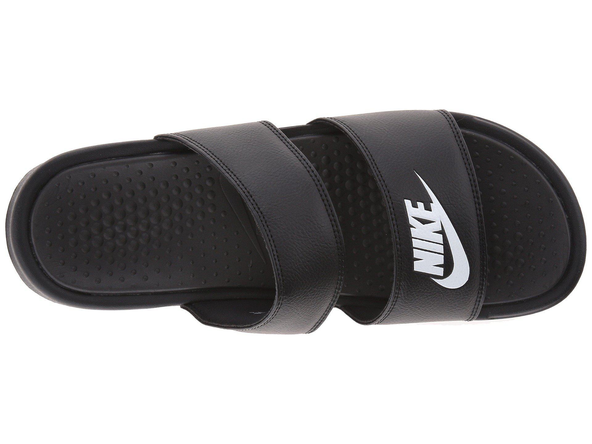 fb3744280 Nike - Black Benassi Duo Ultra Slide (white metallic Silver) Women s Slide  Shoes. View fullscreen