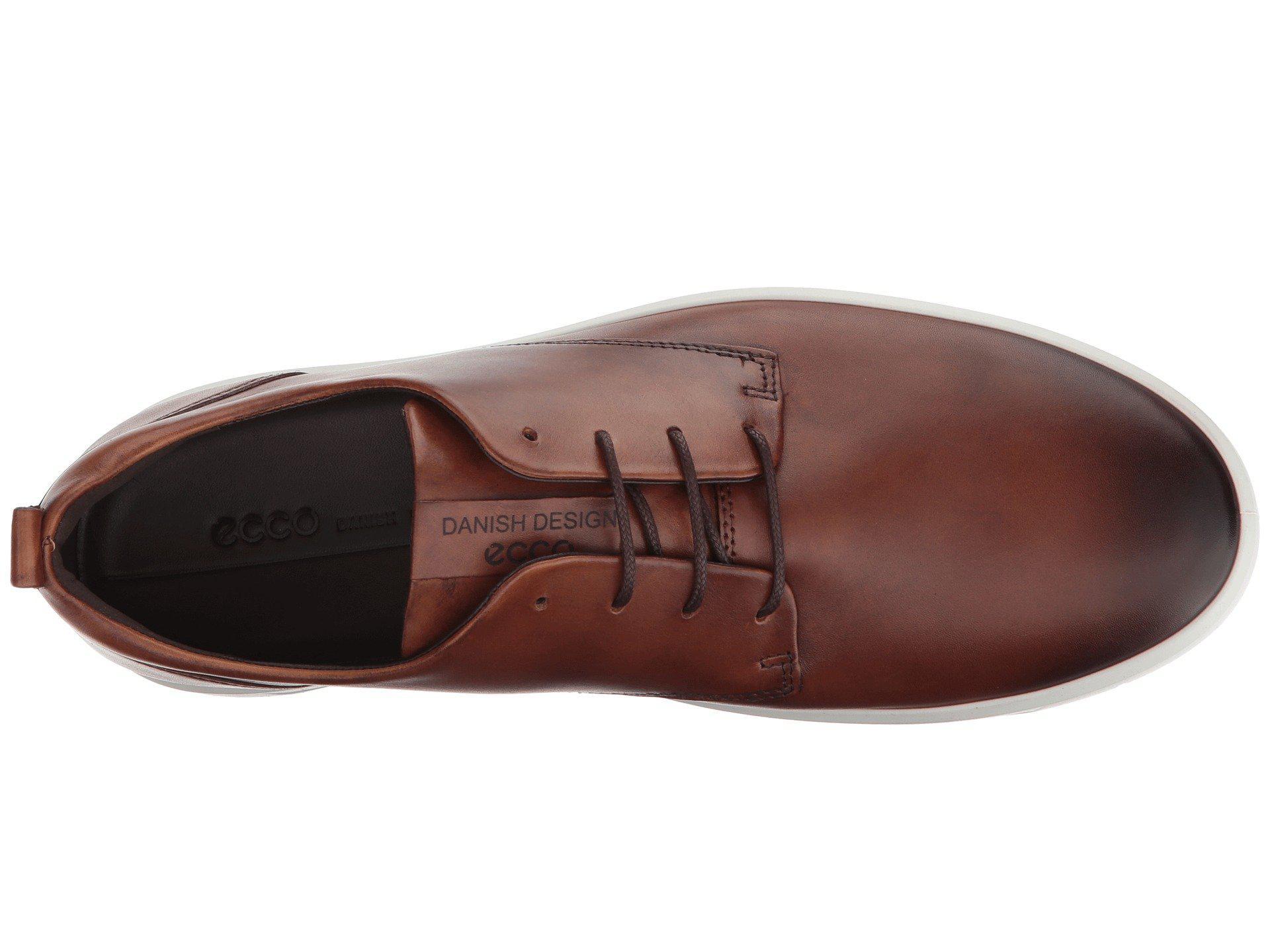 Ecco Leather Soft 8 Tie Fashion Sneaker