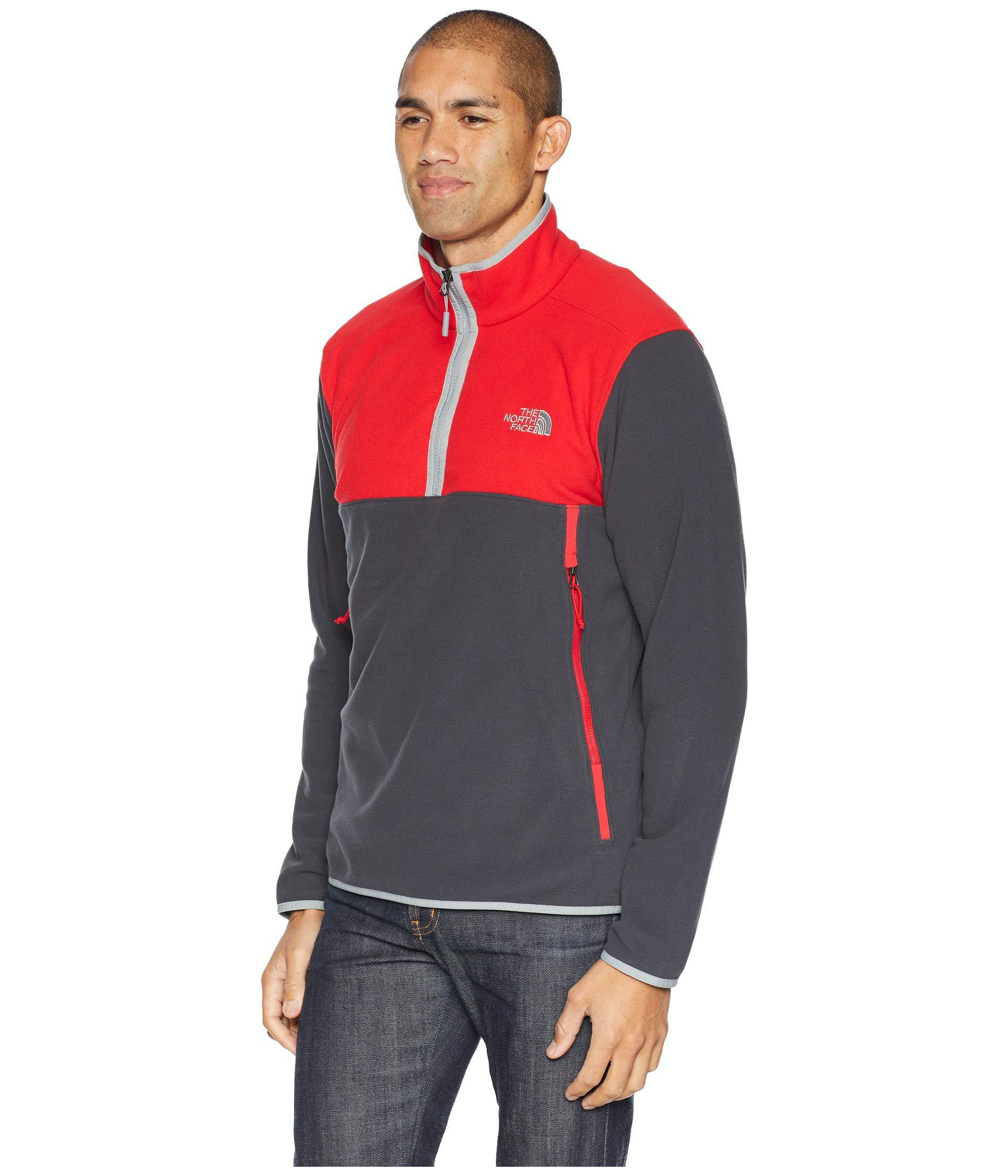 4bdb63154 Glacier Alpine 1/4 Zip (asphalt Grey/rage Red) Men's Sweater