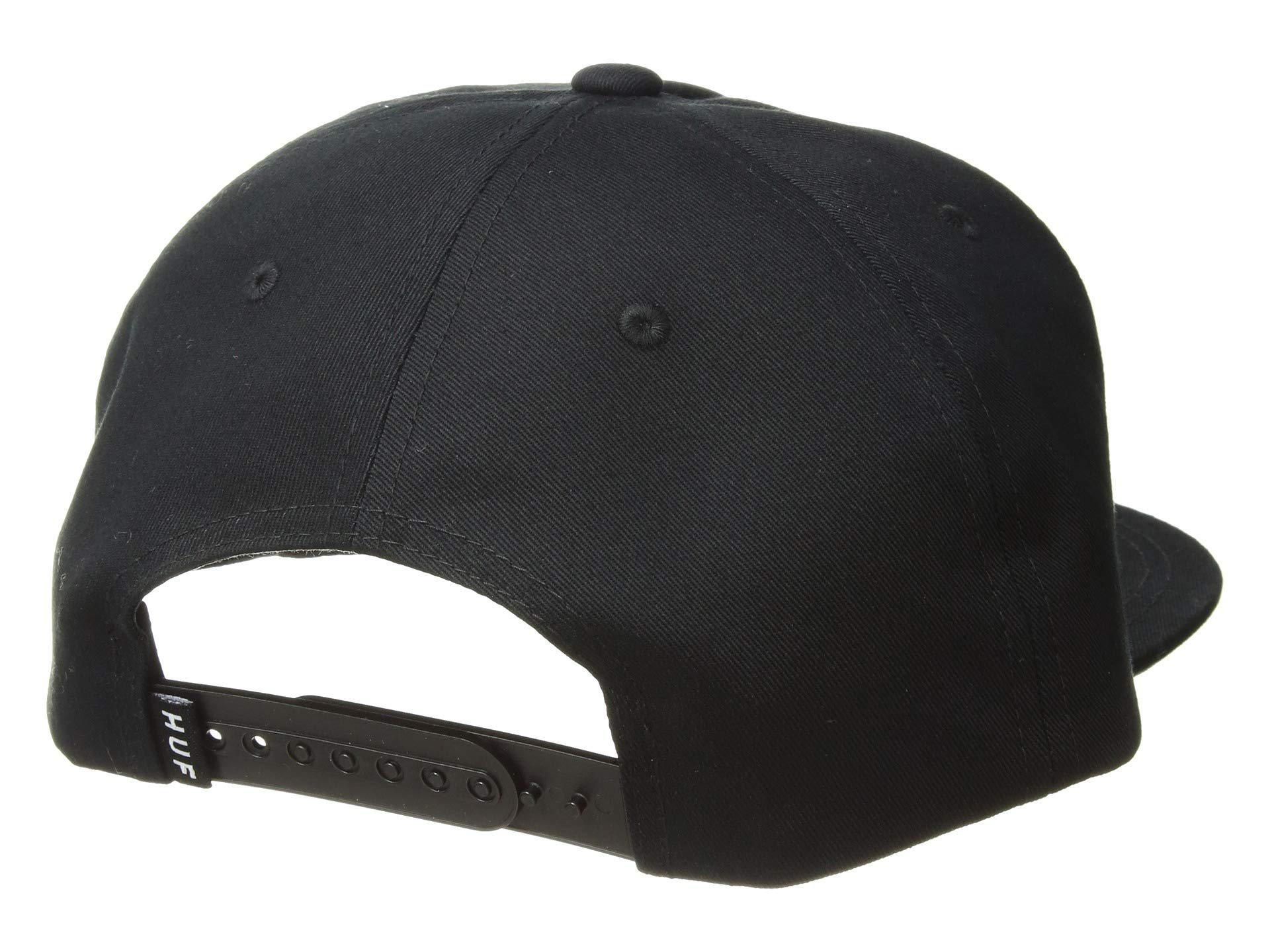 c6673cf4b16bd Lyst - Huf Corps Snapback Hat (black) Caps in Black for Men