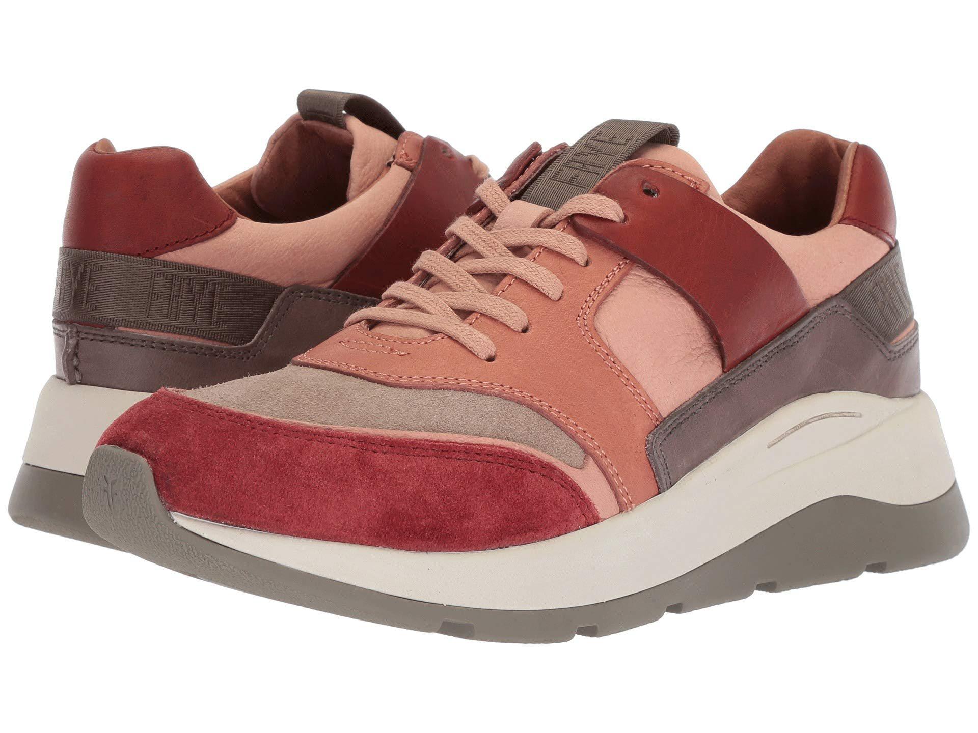 Frye Willow Low Lace Sneaker in Red