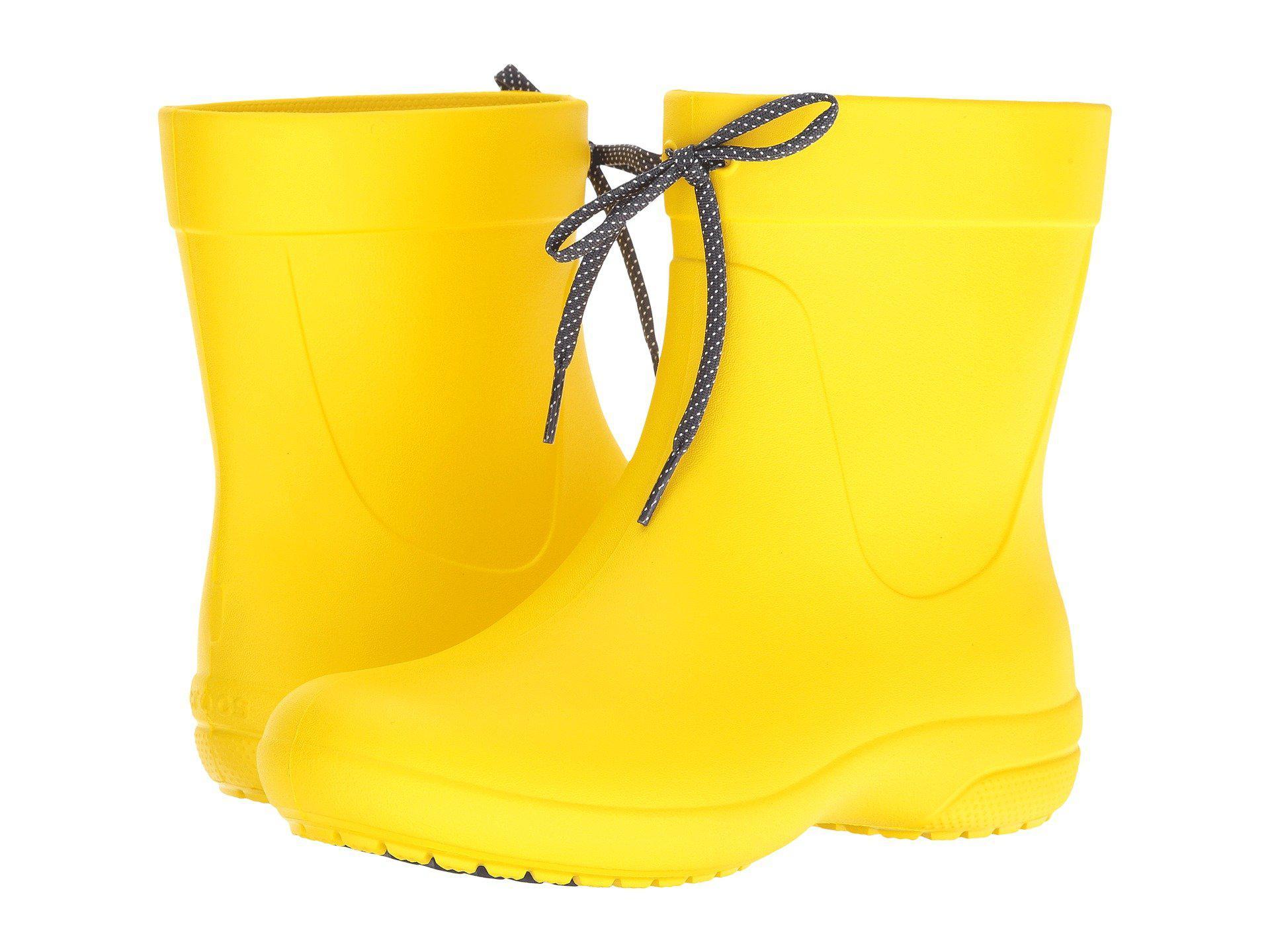c1a9d4f0a4dd73 Lyst - Crocs™ Freesail Shorty Rainboot in Yellow