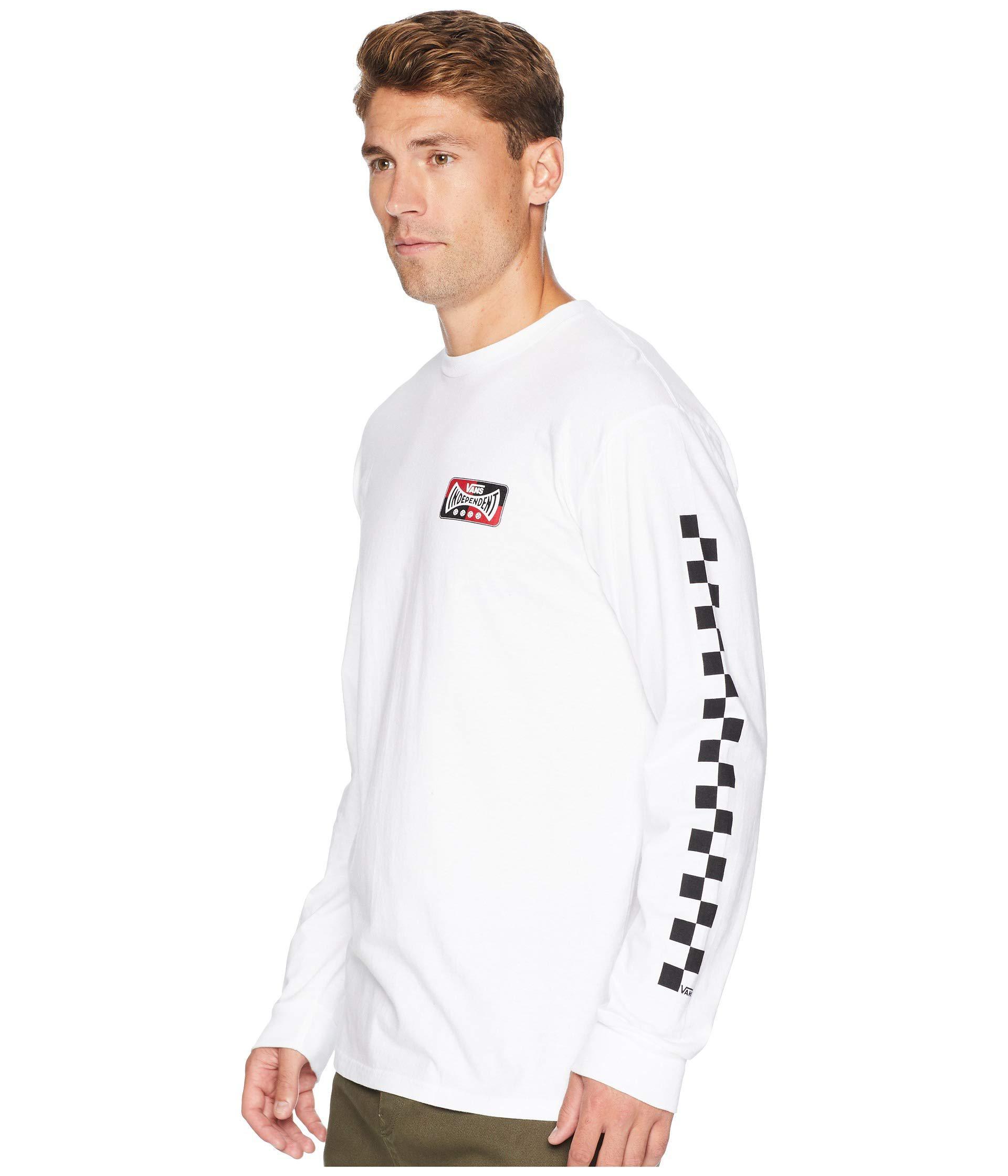 f4303129a Vans X Independent Long Sleeve T-shirt (white) Men's T Shirt in ...