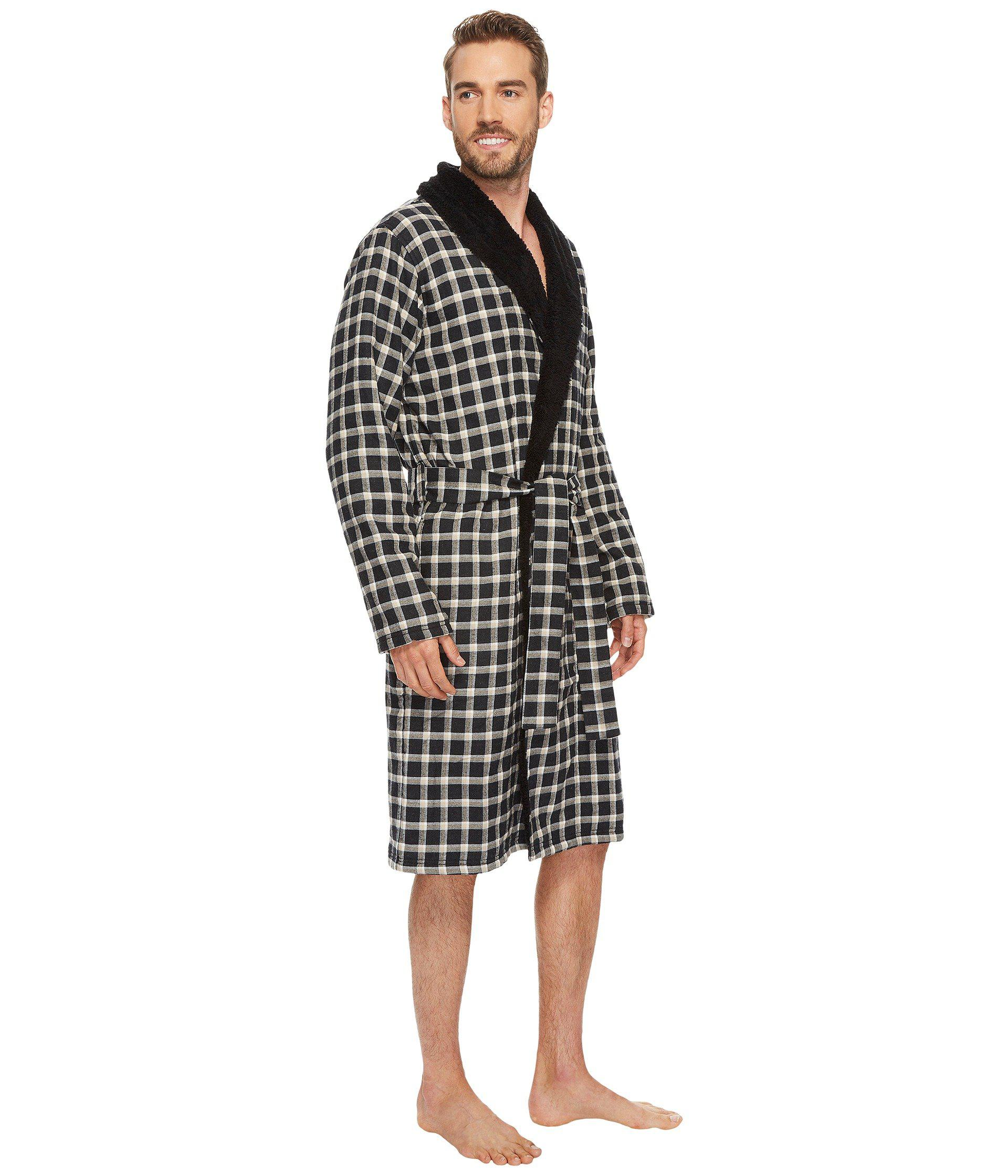 890d2b1cac Lyst - Ugg Kalib Plaid Robe in Black for Men