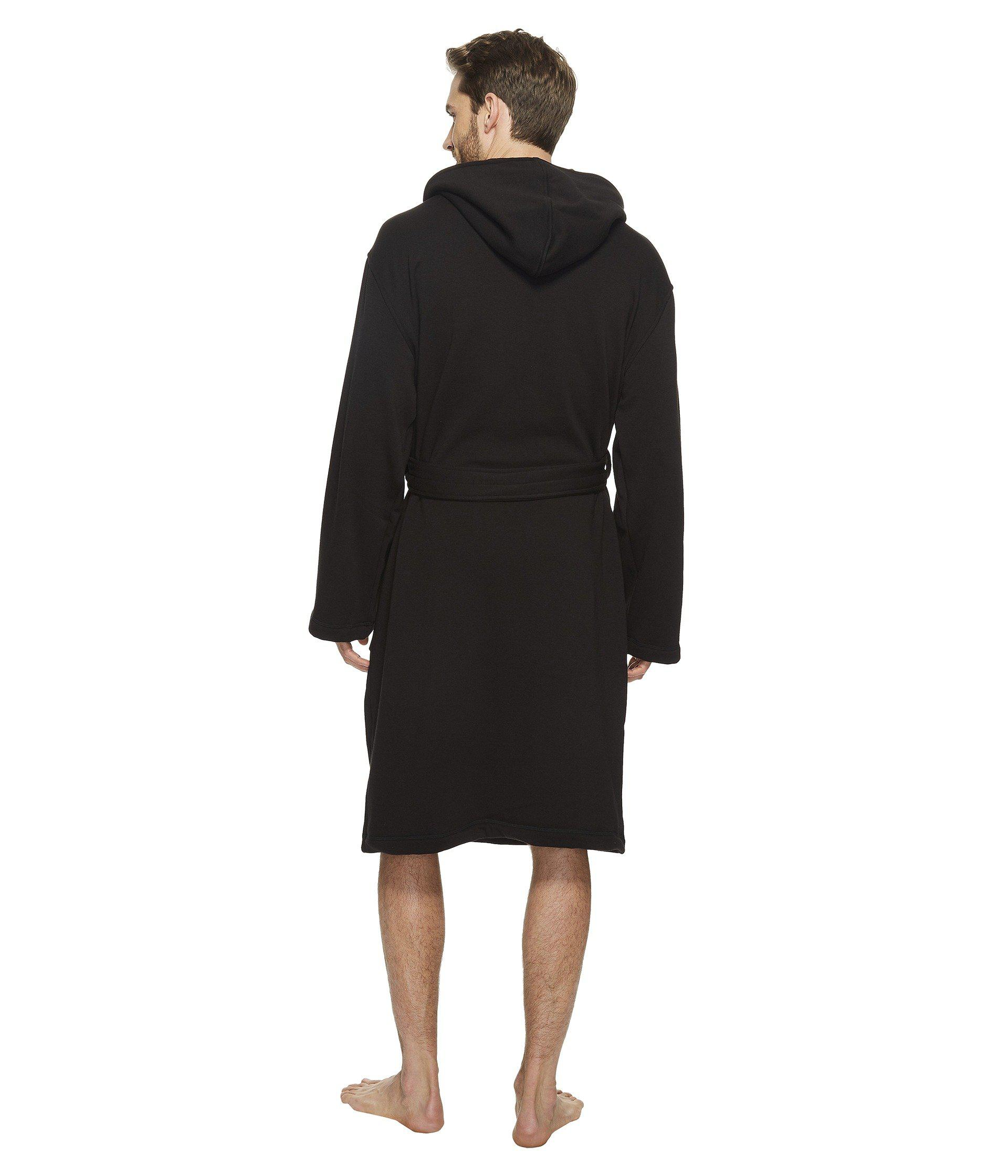 24f4a231f5f Ugg Black Brunswick Robe (rock Ridge Heather) Men's Robe for men