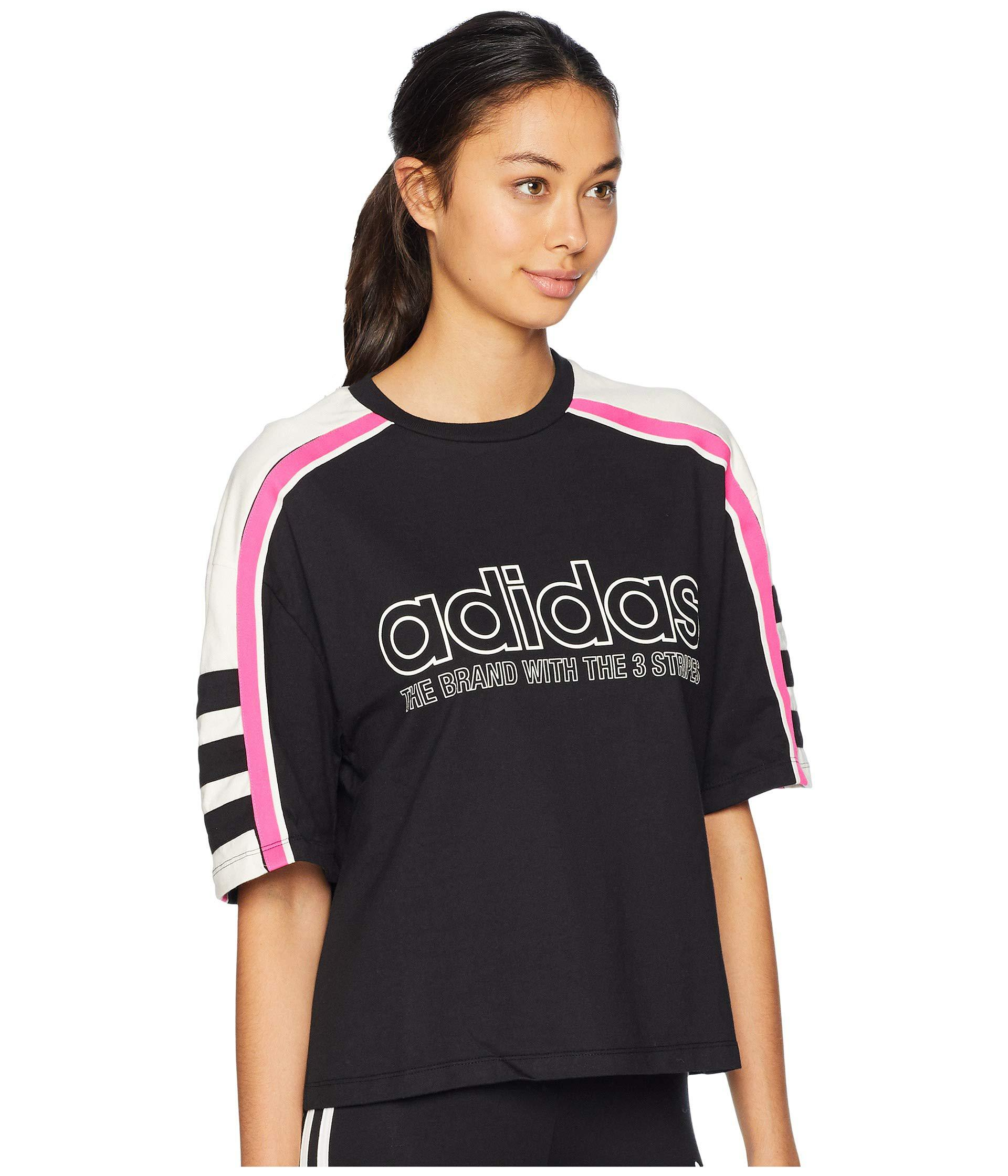 a23fce637 adidas Originals Racing Aa-43 Cropped Tee (black) Women's T Shirt in ...