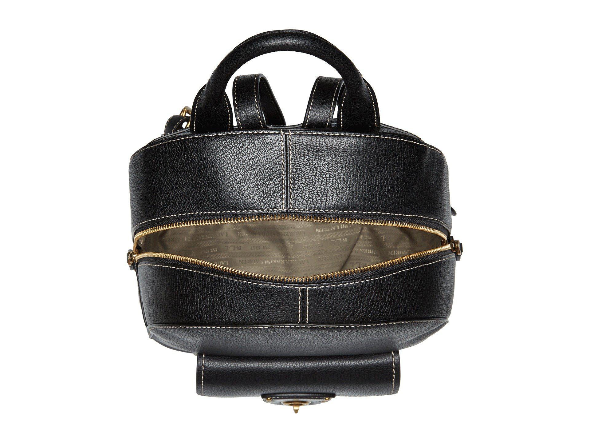 1ea03f858763 Lyst - Lauren by Ralph Lauren Millbrook Backpack Medium in Black