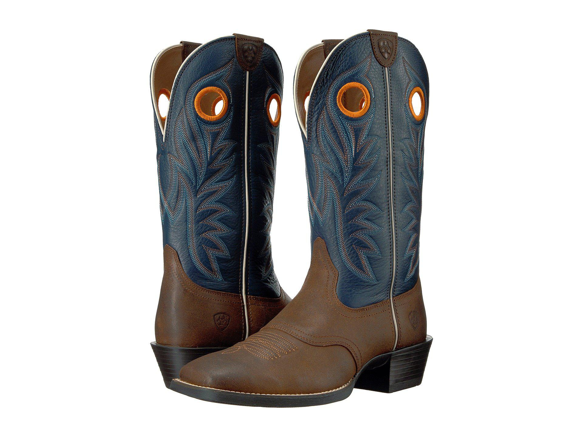 37462317795 Men's Sport Outrider (pinecone/federal Blue) Cowboy Boots