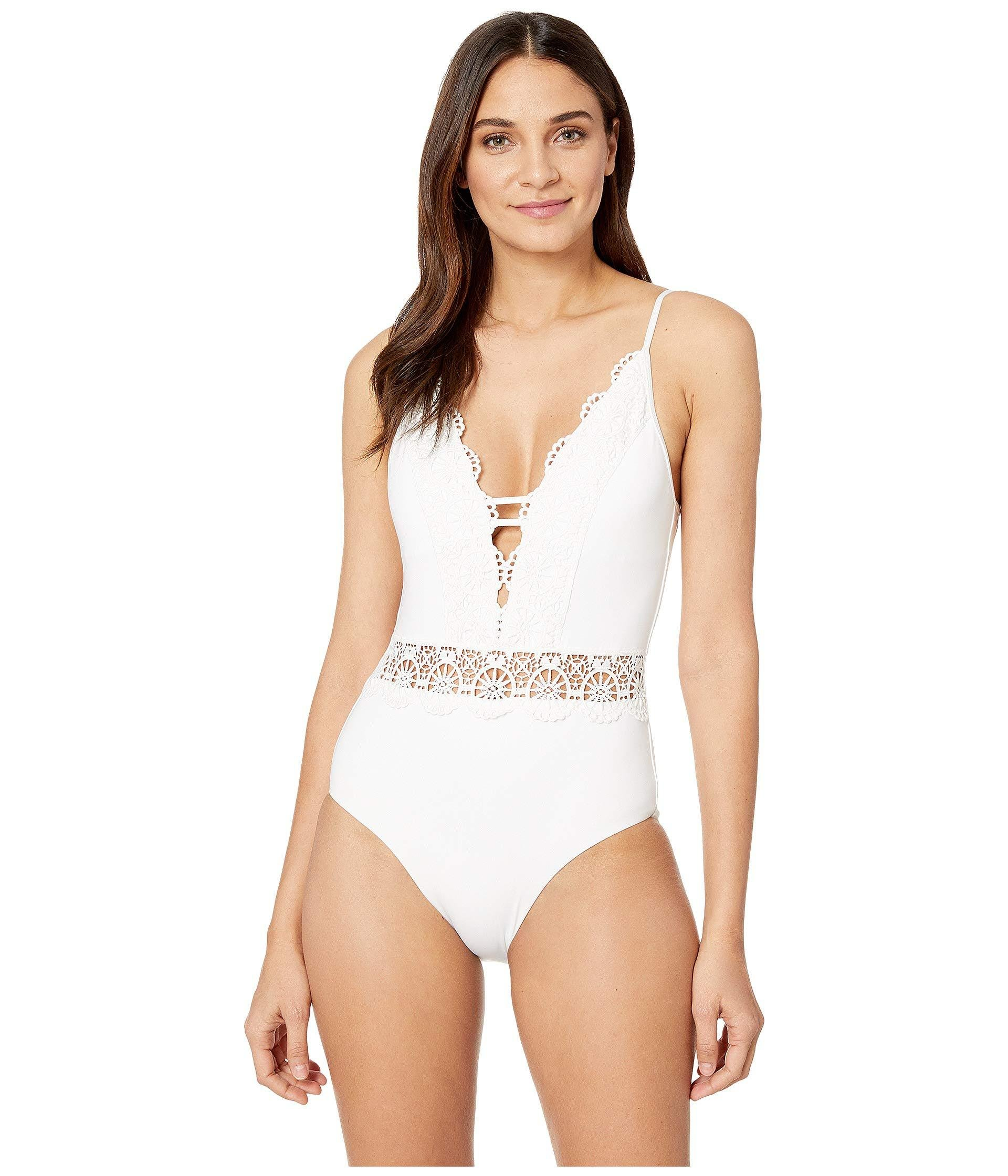 4c85465b9af34 Lyst - Becca Muse One-piece (black) Women s Swimsuits One Piece in White