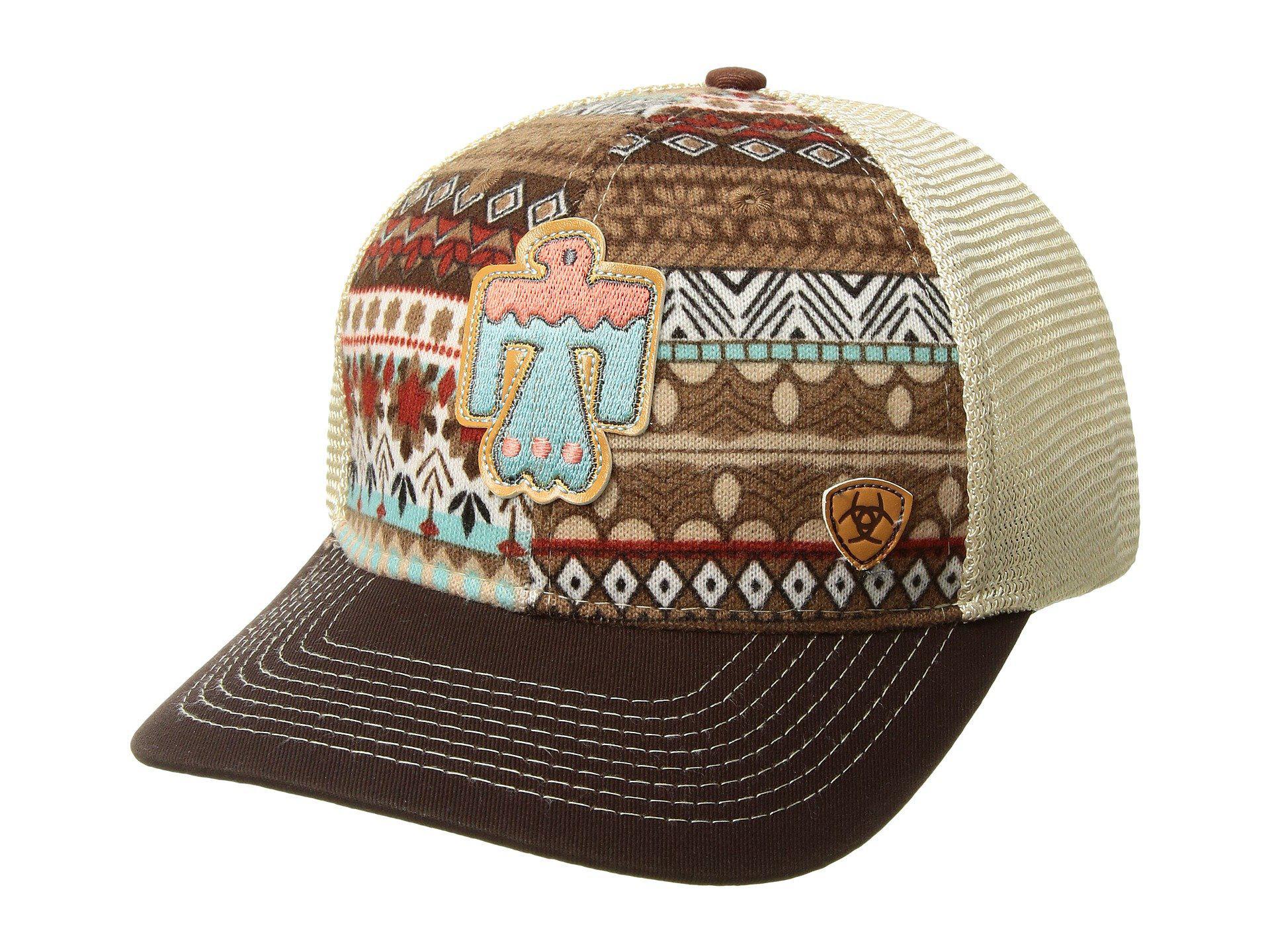 57b542dceaad8 ... new zealand ariat. womens aztec thunderbird patch ball cap e26cc 38326