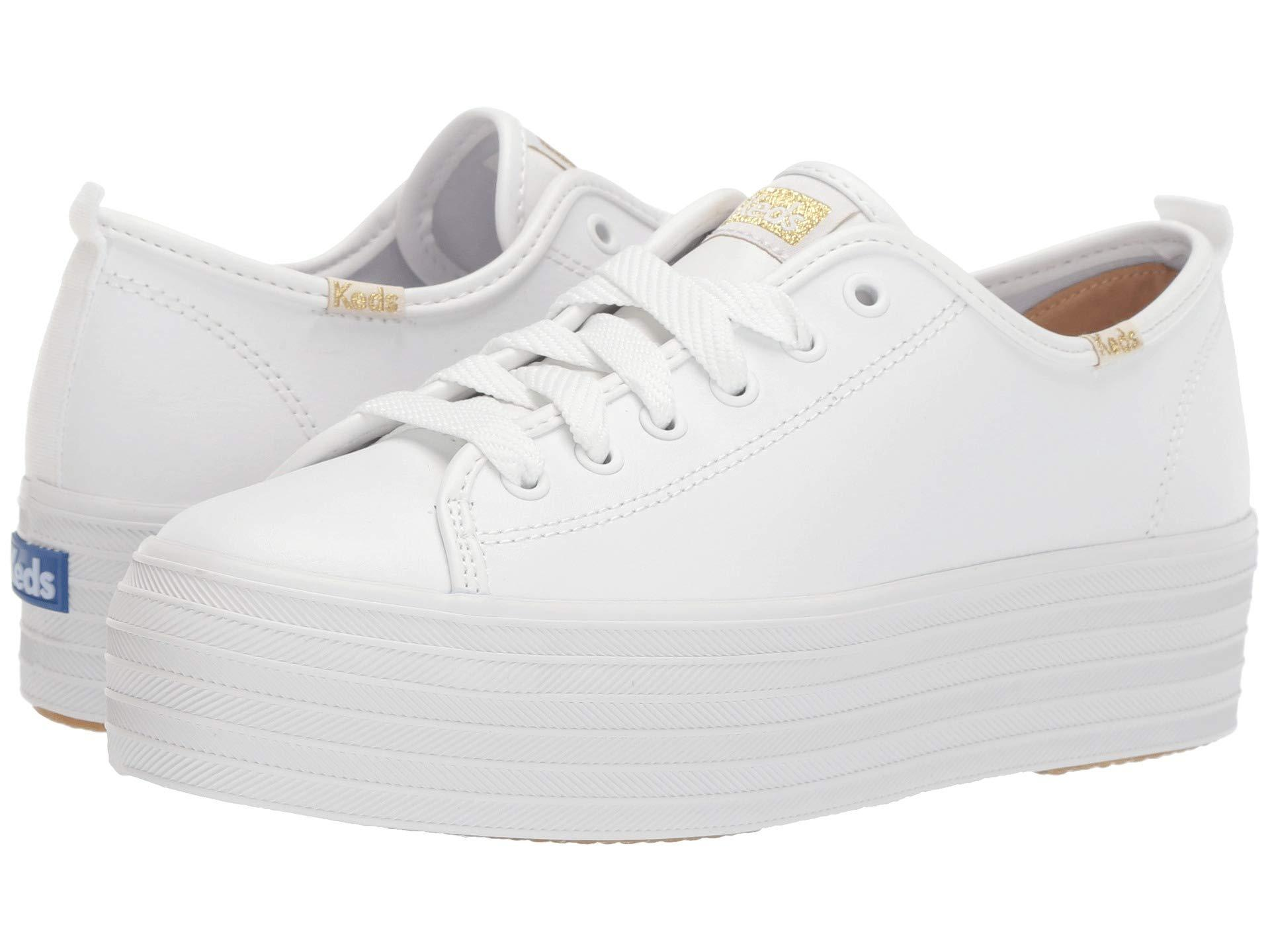 Keds Triple Up Leather in White - Lyst