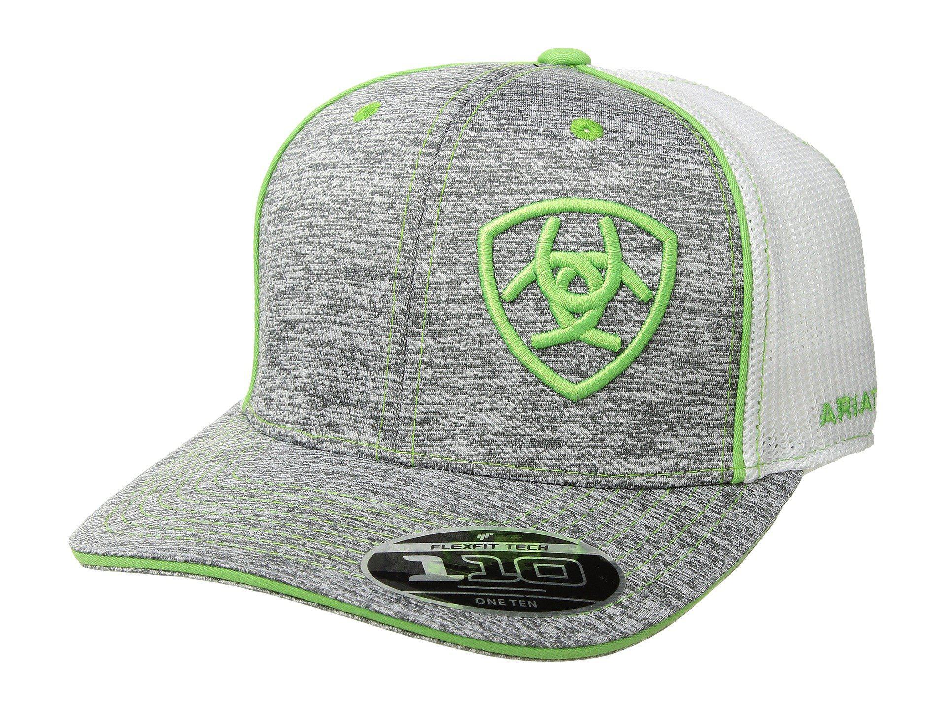 c73eeaf92da Lyst - Ariat Embroidered Shield Flexfit Cap (heather green) Caps for Men