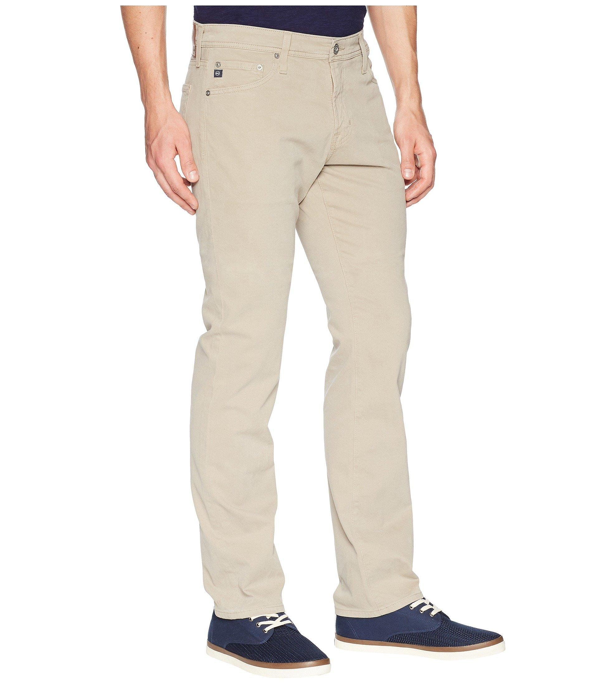 a29150c2 AG Jeans - Natural The Graduate Tailored Straight Sud Sueded Stretch Sateen  (burch) Men's. View fullscreen