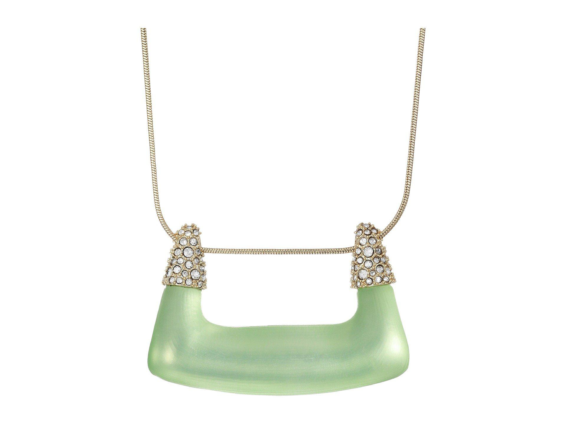 Alexis Bittar Crystal Encrusted Buckle Shape Pendant Necklace Seafoam 1xMejm9j2T