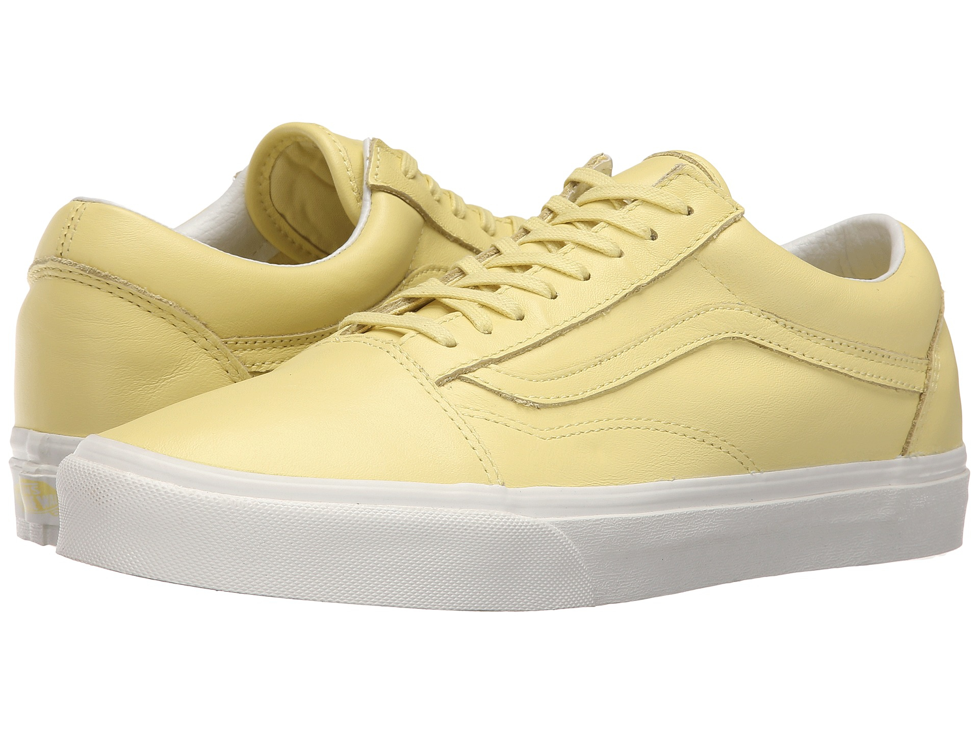 yellow vans old skool leather
