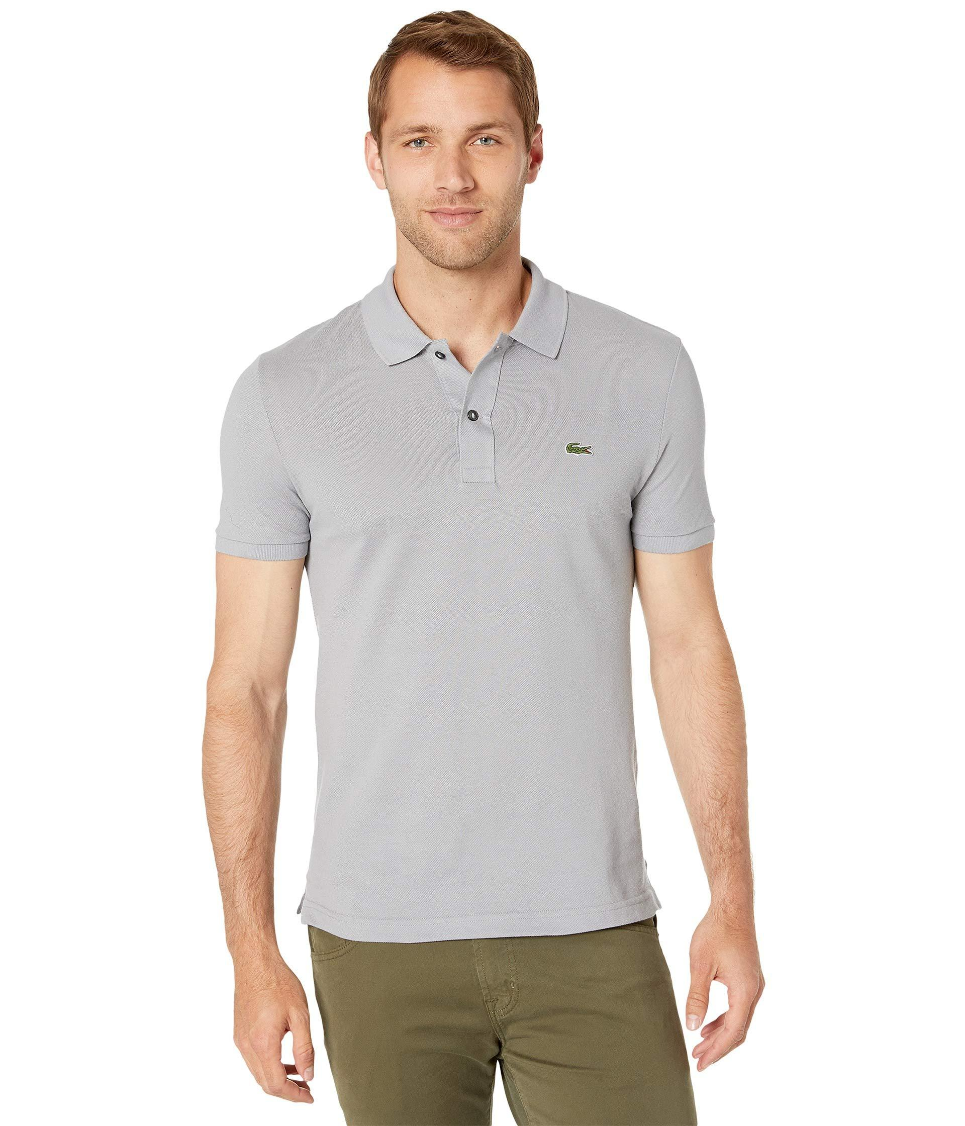 big sale c4cd1 b3eb5 Lacoste Short Sleeve Slim Fit Pique Polo (captain) Men's ...