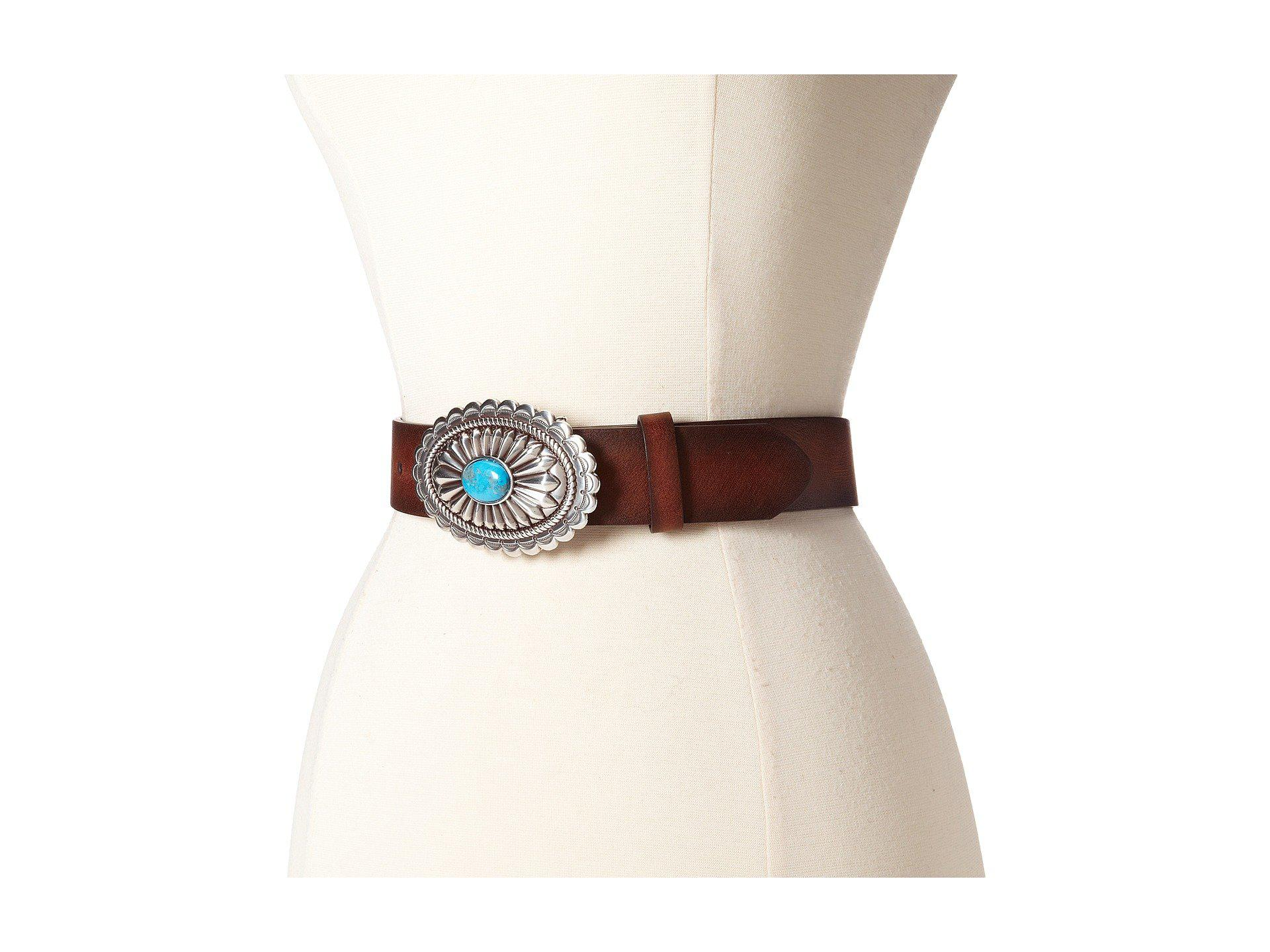 Oval Concho Buckle Belt