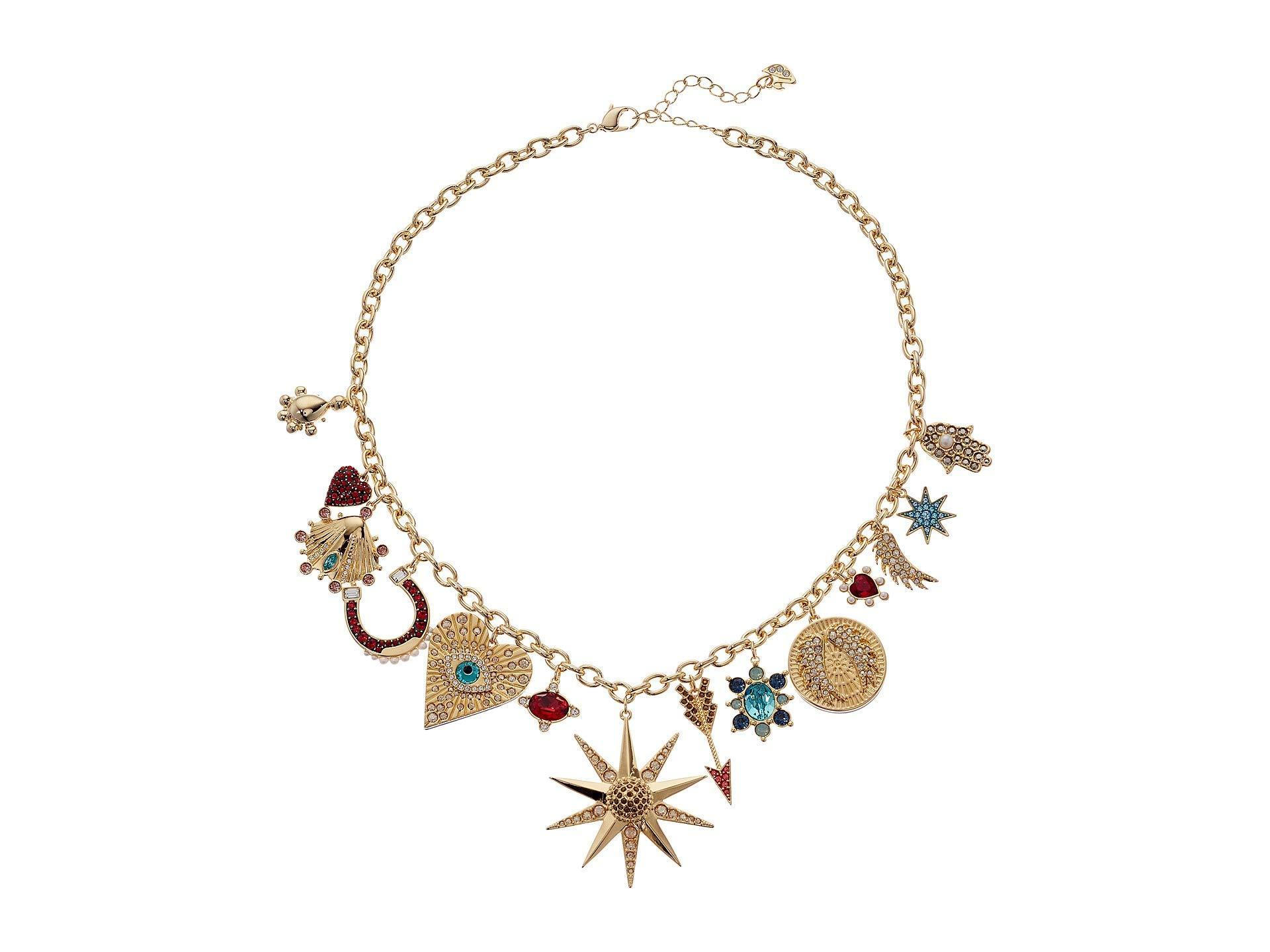 Lucky Goddess Charms Necklace (light Multi) Necklace
