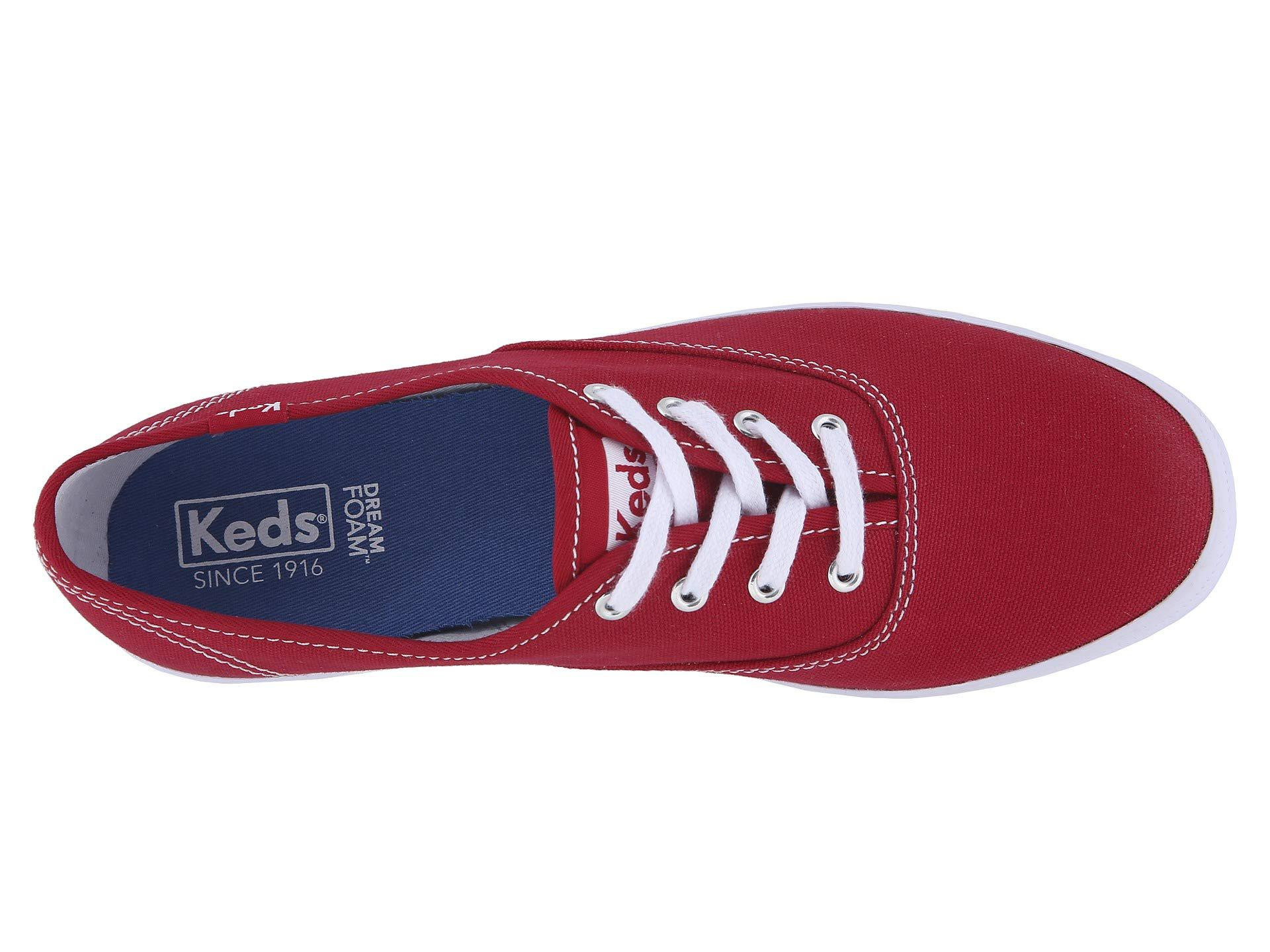 afcedfd5adbb1b Lyst - Keds Anchor (white) Women s Lace Up Casual Shoes in Red ...