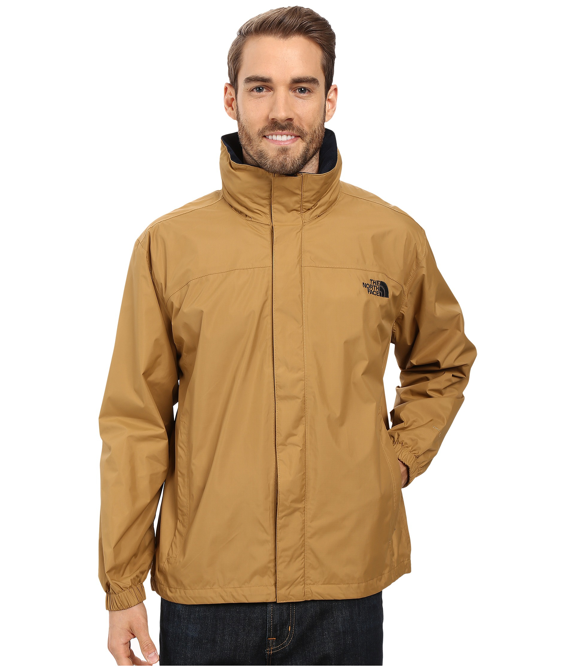 8464050e8a8f ... uk lyst the north face resolve jacket in brown for men c978f 2f55e