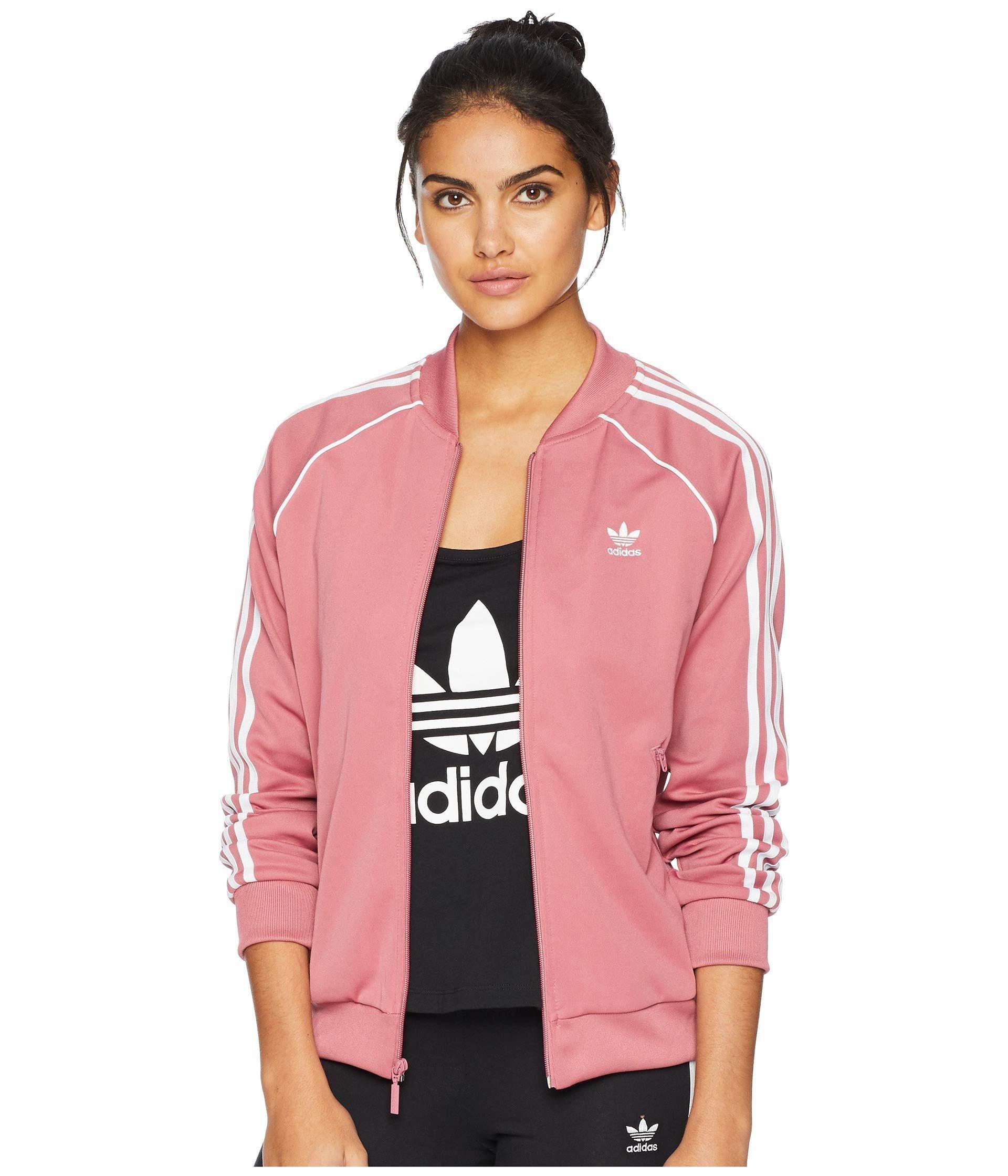adidas Originals SST Track Jacket Red Womens Jackets
