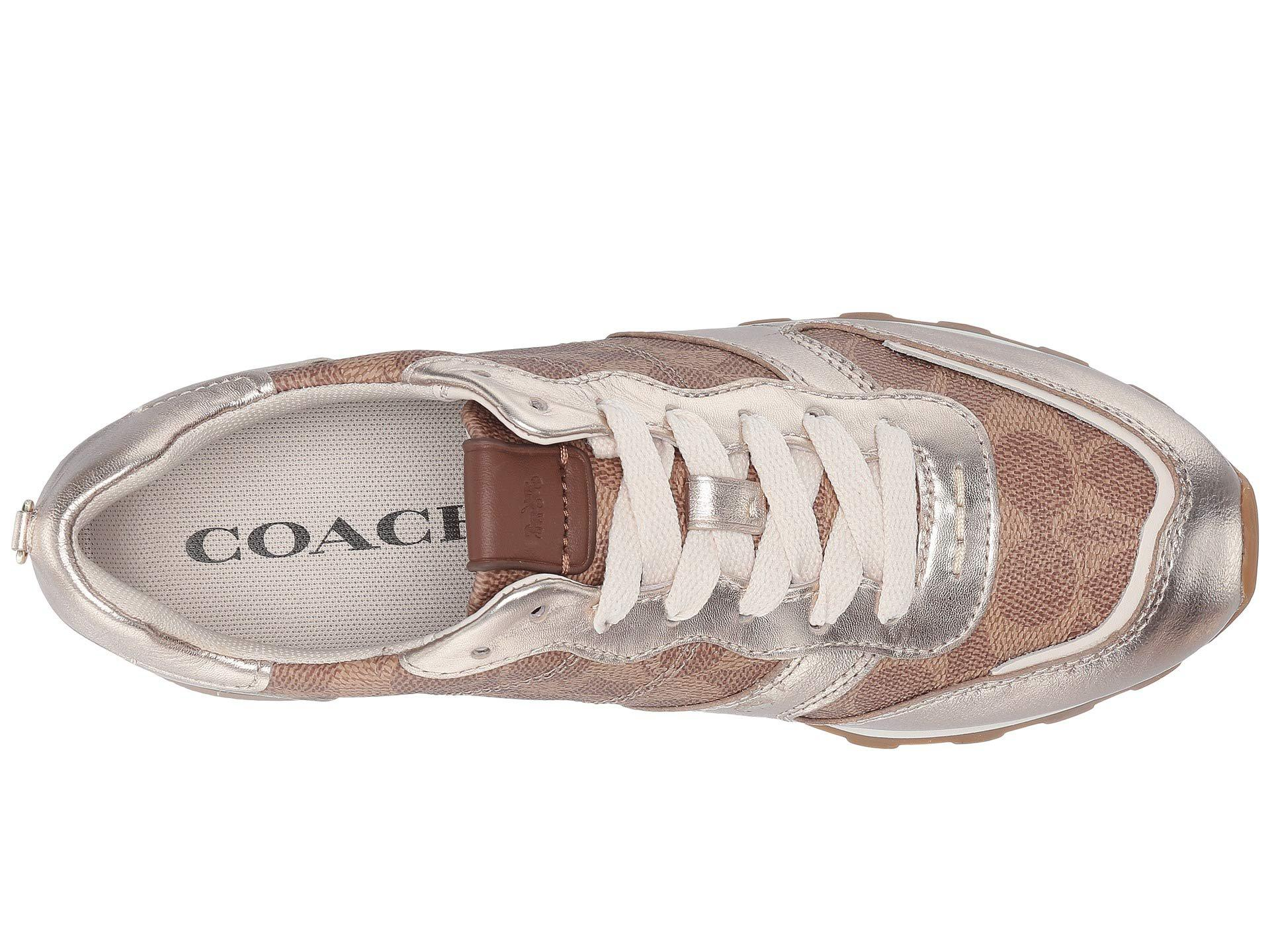 C118 Signature Coated Metallic Lyst With Coach Canvas Runner SqzMpUV