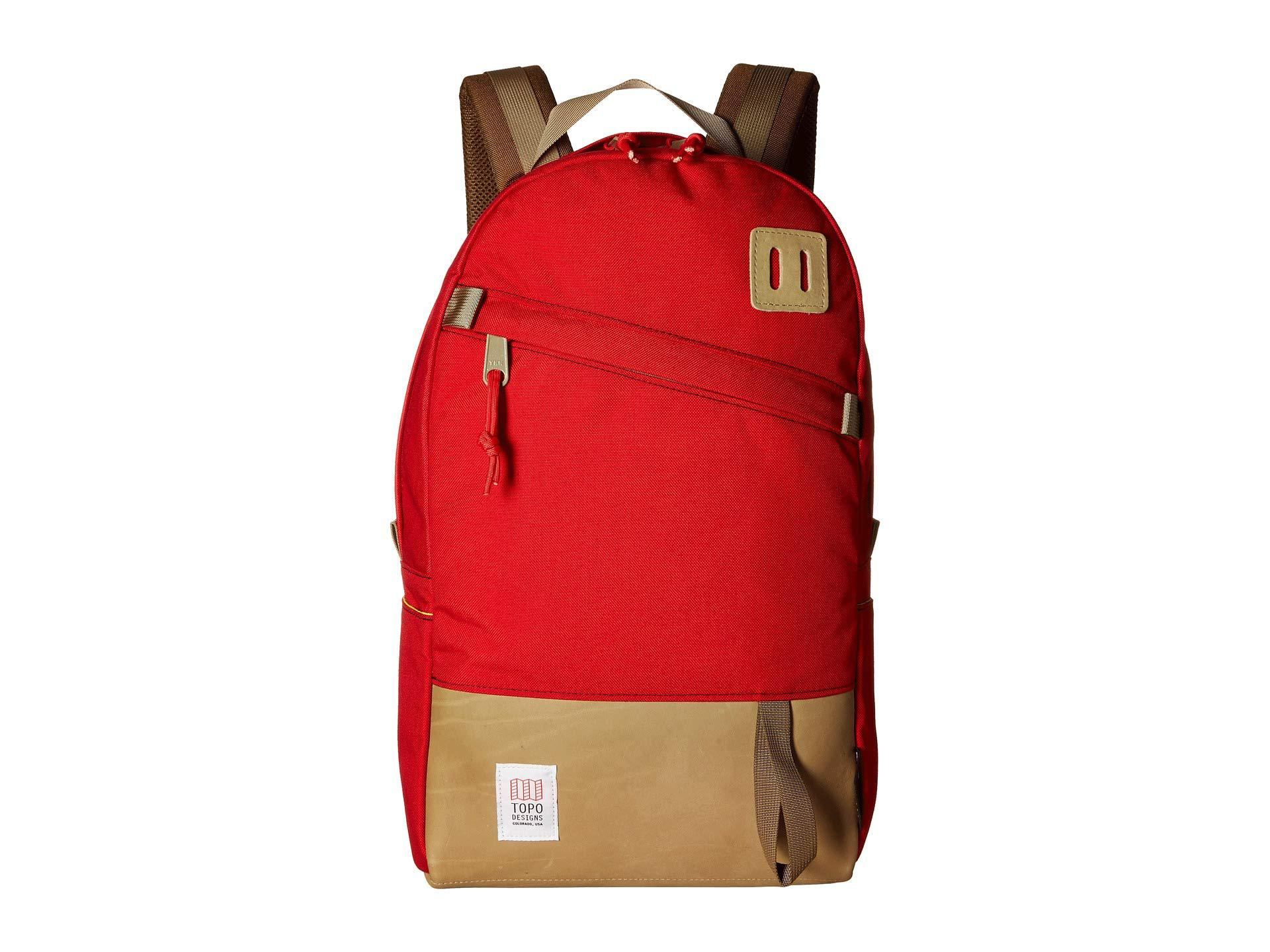Lyst - Topo Designs Daypack (clay) Backpack Bags in Red for Men 276a4d50e4