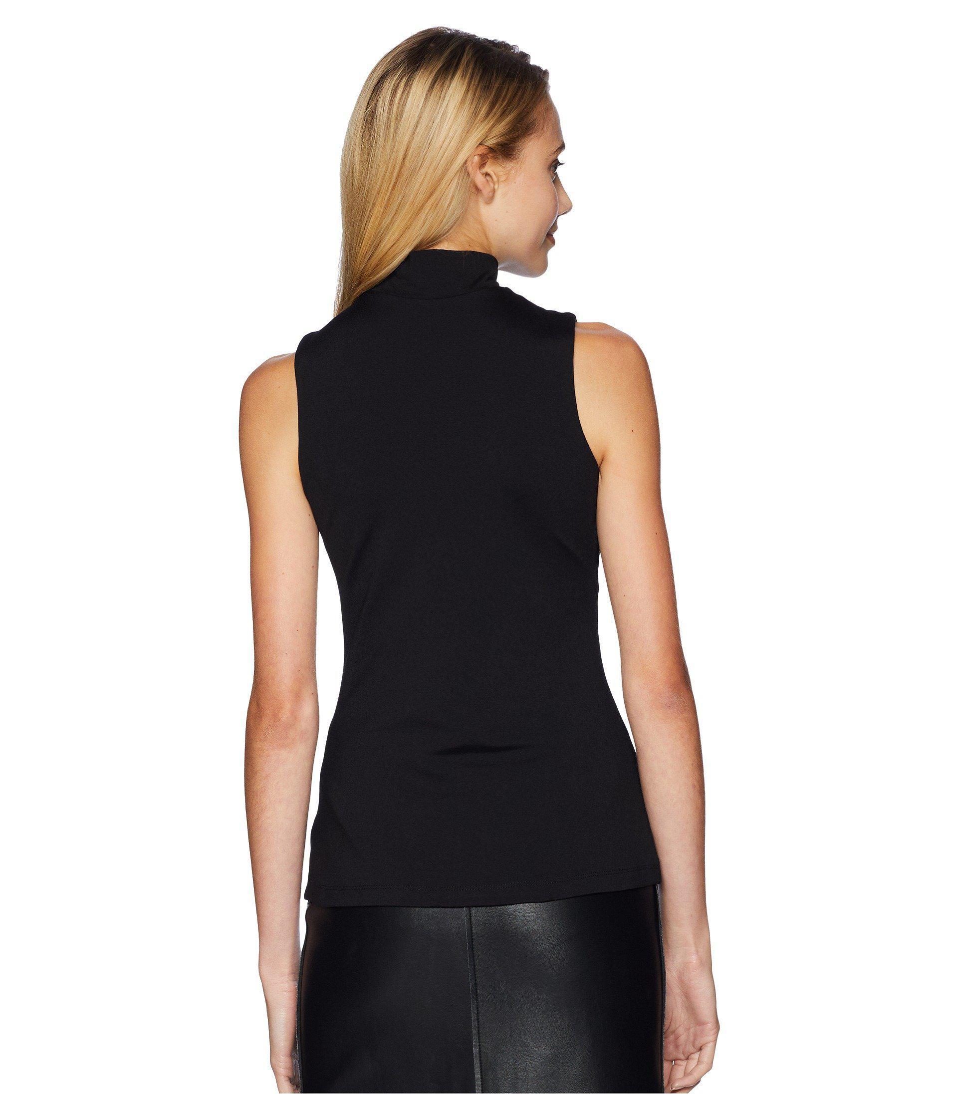5f25db14444de Susana Monaco - High Neck Sleeveless Top (black) Women s Sleeveless - Lyst.  View fullscreen
