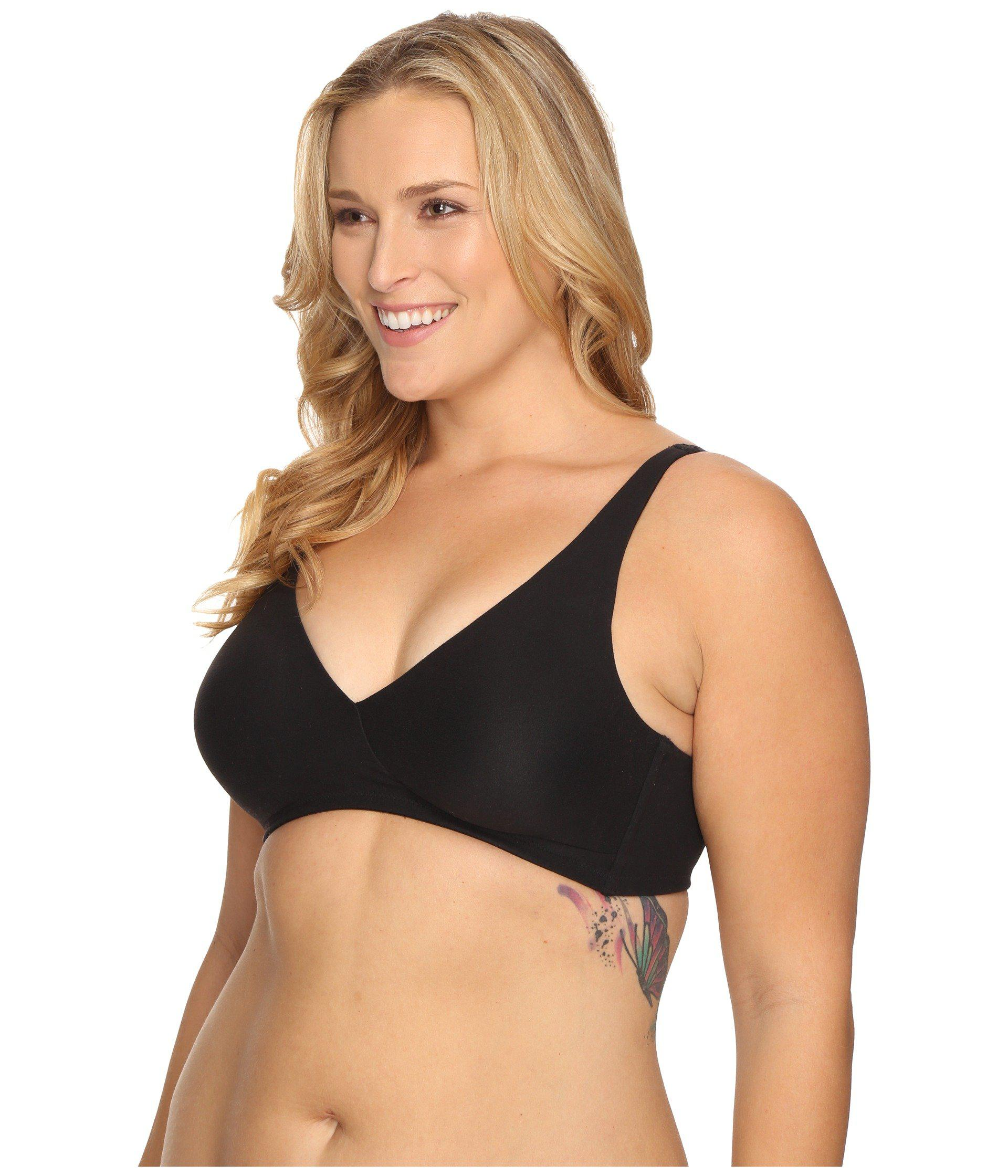 6a2dced67 Lyst - Wacoal How Perfect Full Figure Wire Free Bra 852389 (black) Women s  Bra in Black