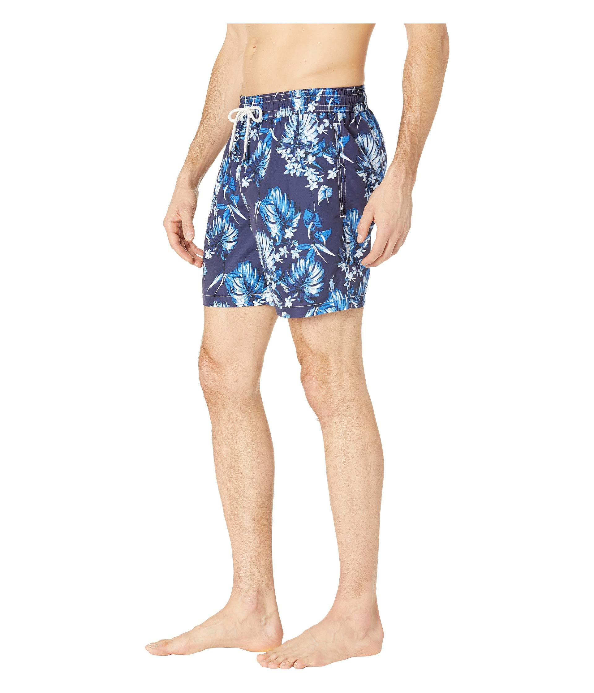 4dde63cdac ... new style lyst polo ralph lauren midnight floral traveler swim trunks  tonal flower mens swimwear in
