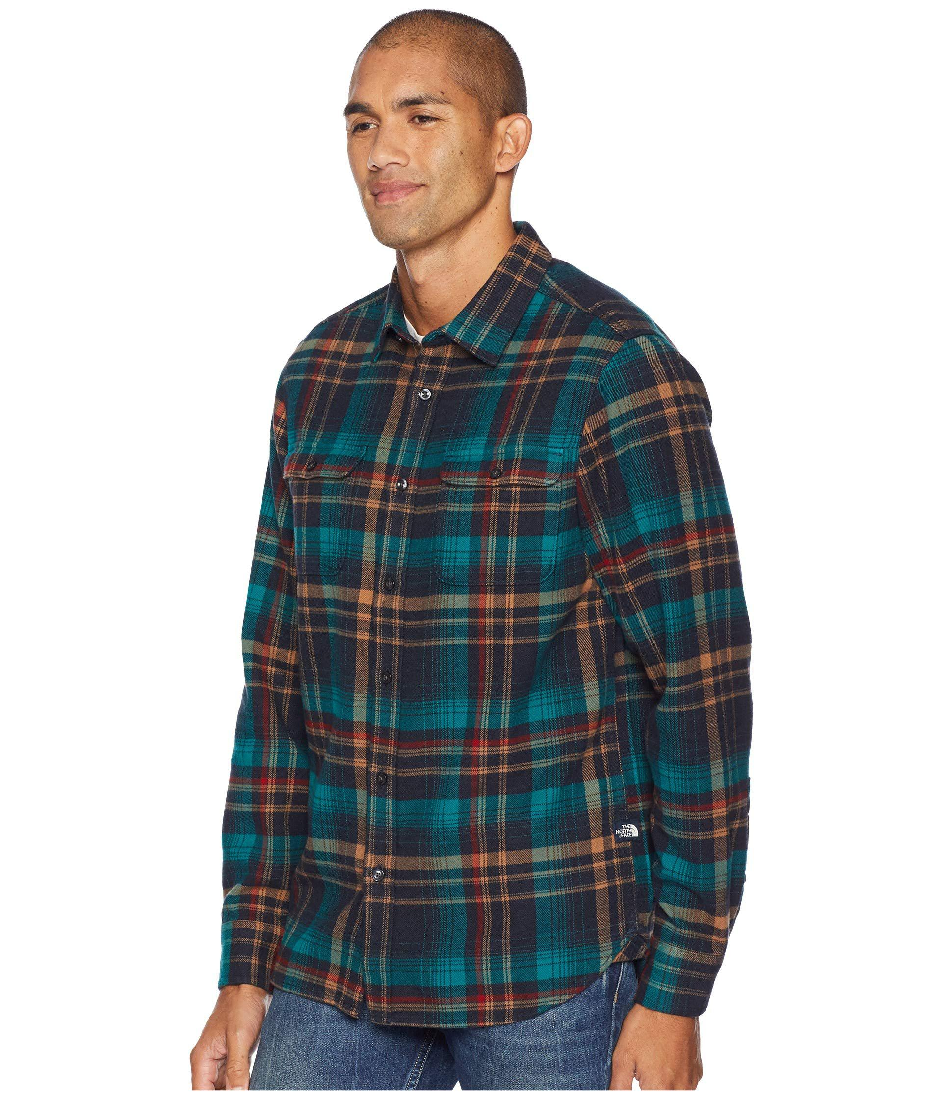 e7f8f04a8 The North Face Blue Long Sleeve Arroyo Flannel (urban Navy Barrows Plaid)  Men's Long Sleeve Button Up for men