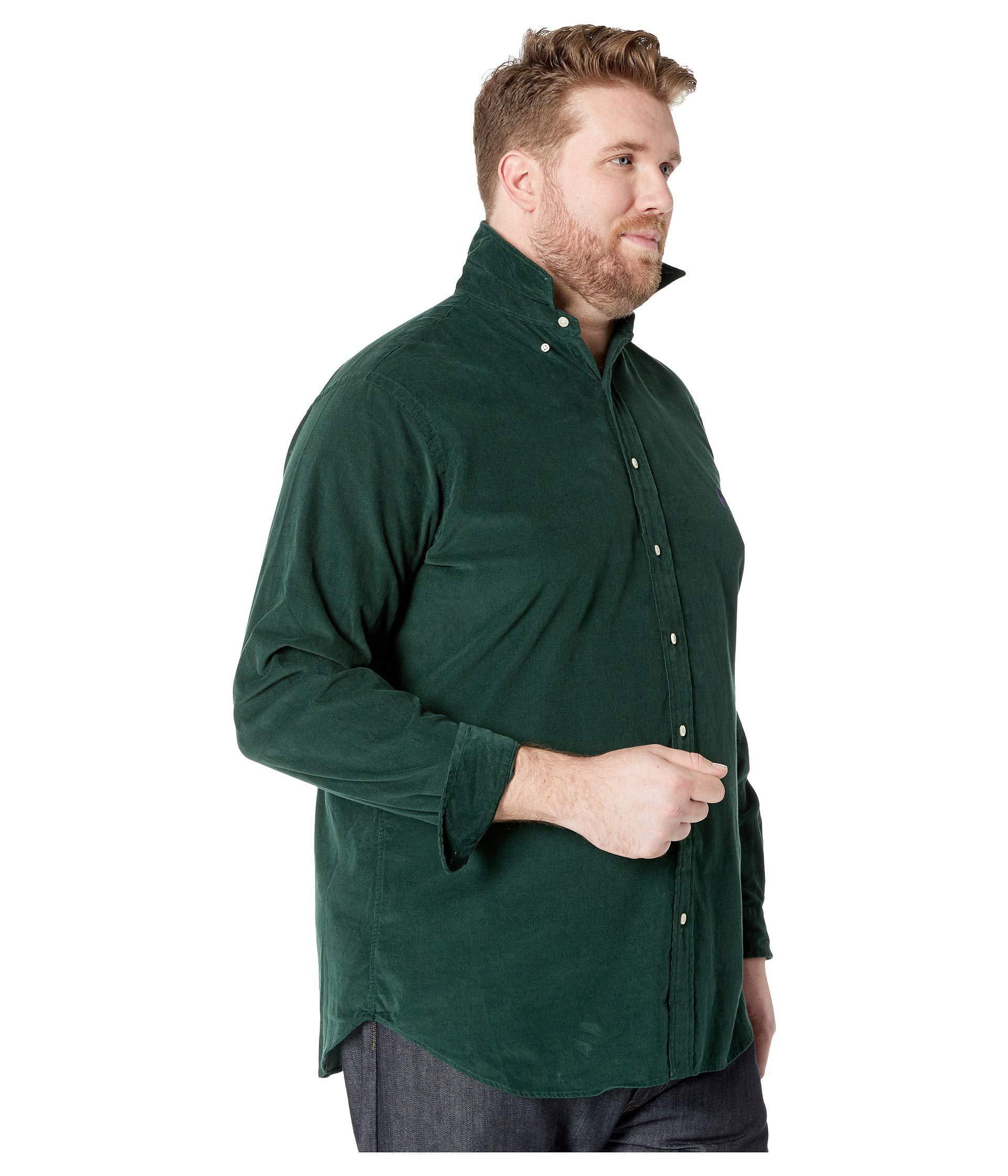 BlackMen's Ralph Men Green Polo Tall Sportshirtpolo For Clothing Lauren Big Corduroy Jlc3TFK1