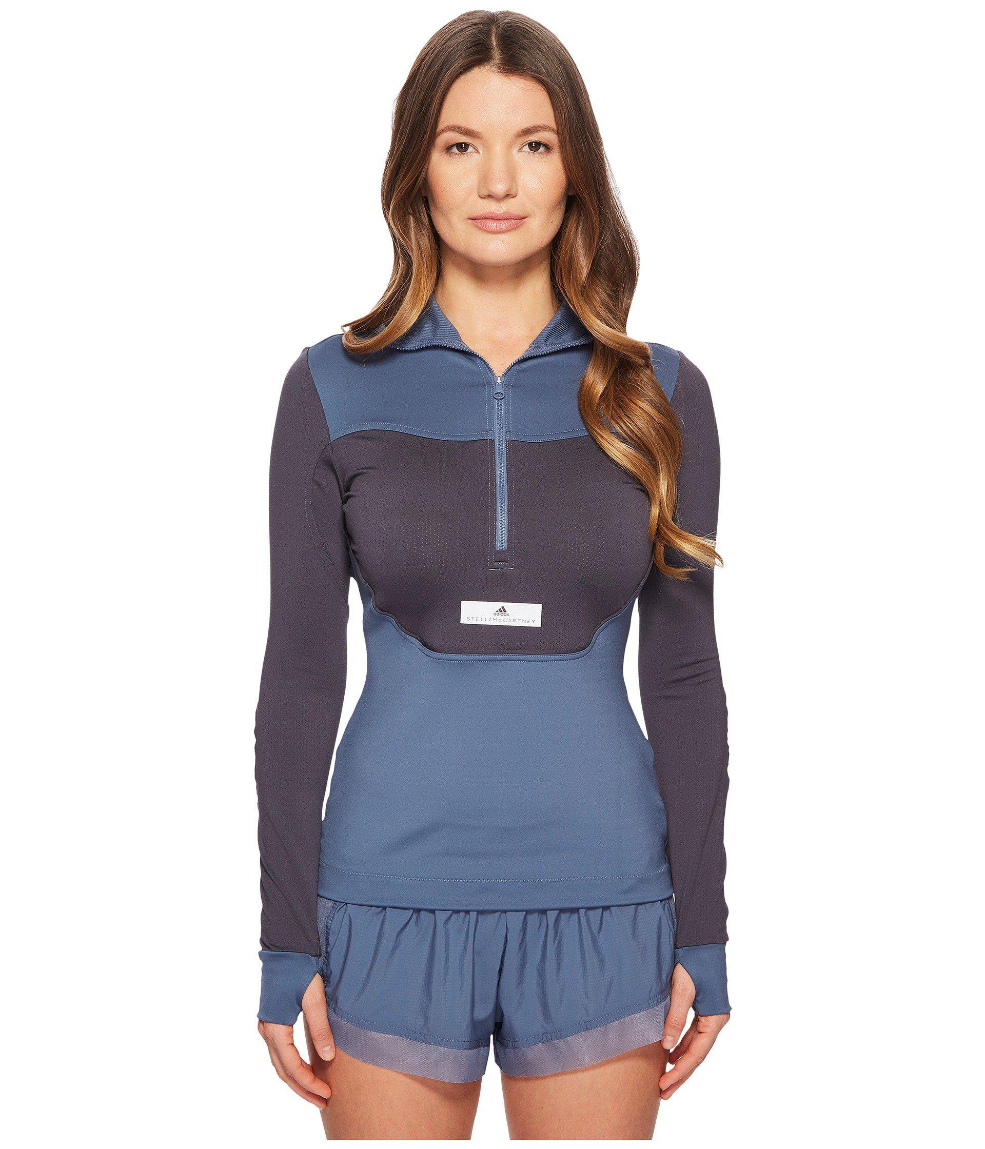adidas By Stella McCartney. Women's Blue Run Hooded Long Sleeve Cg0137