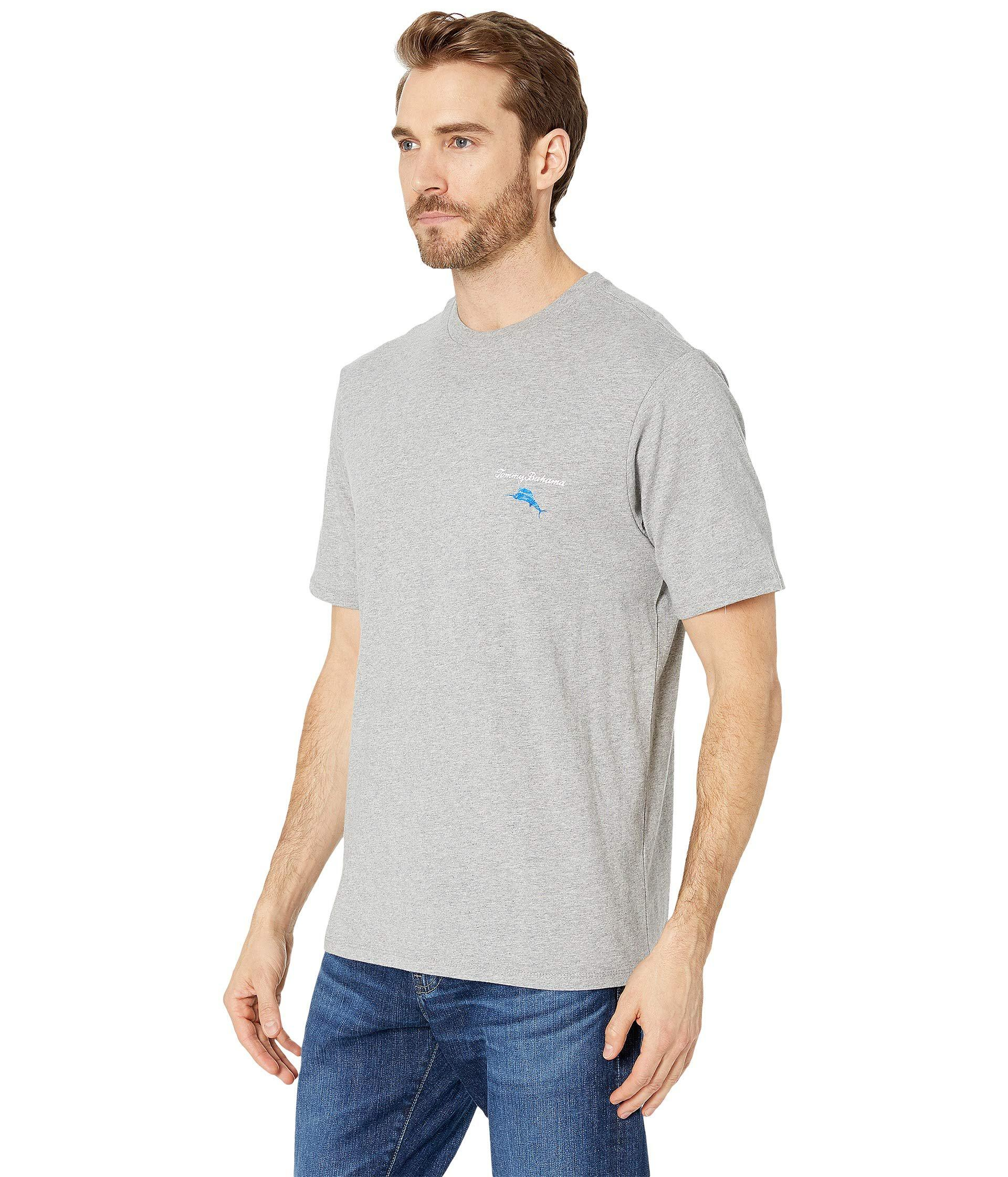 e91855a9 Lyst - Tommy Bahama Call Me Old Fashioned Tee (grey Heather) Men's T Shirt  in Gray for Men - Save 41%
