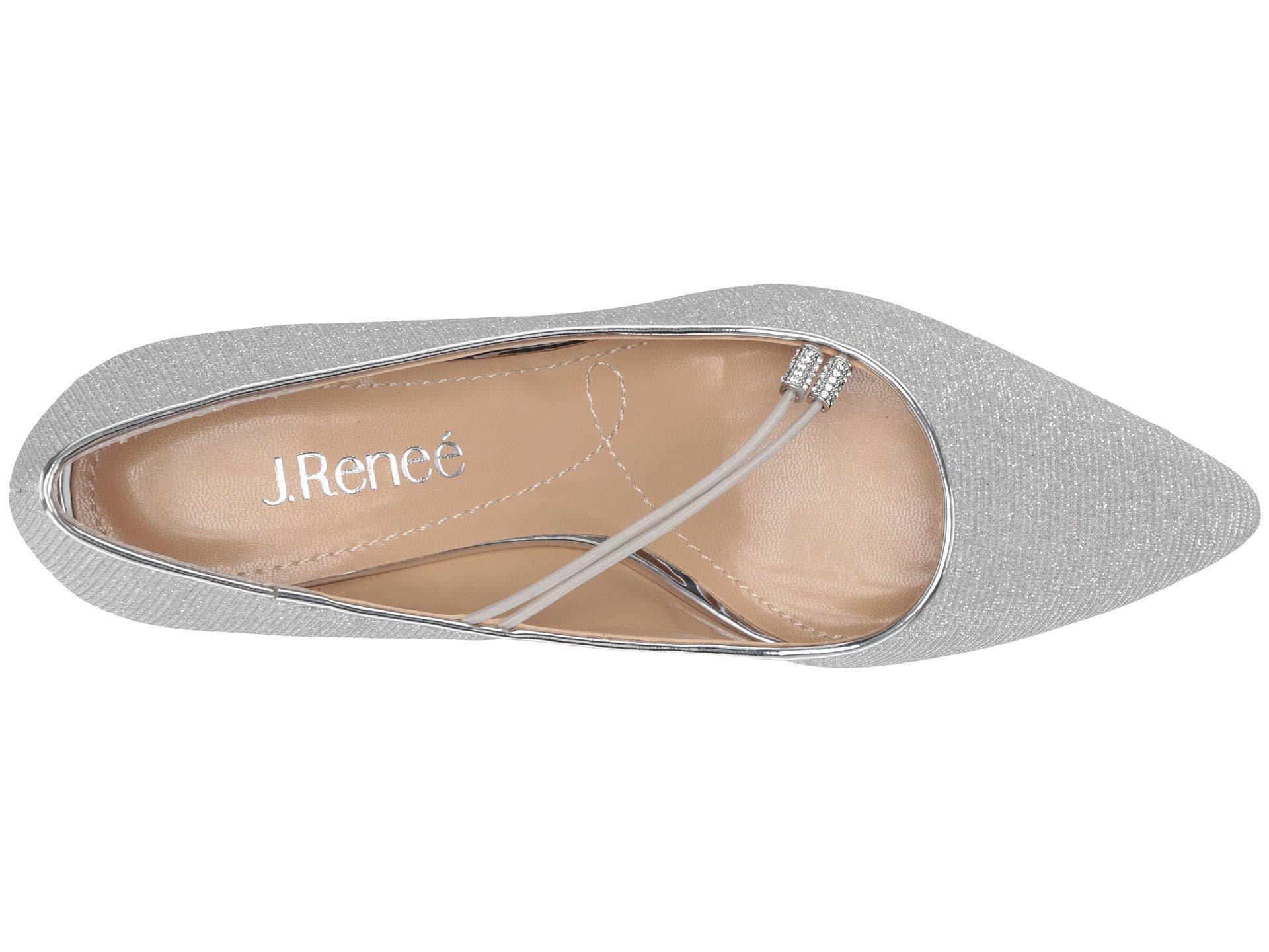 1ed36475cf3 Lyst - J. Reneé Idenah (pewter Glitter Fabric) Women s 1-2 Inch Heel ...