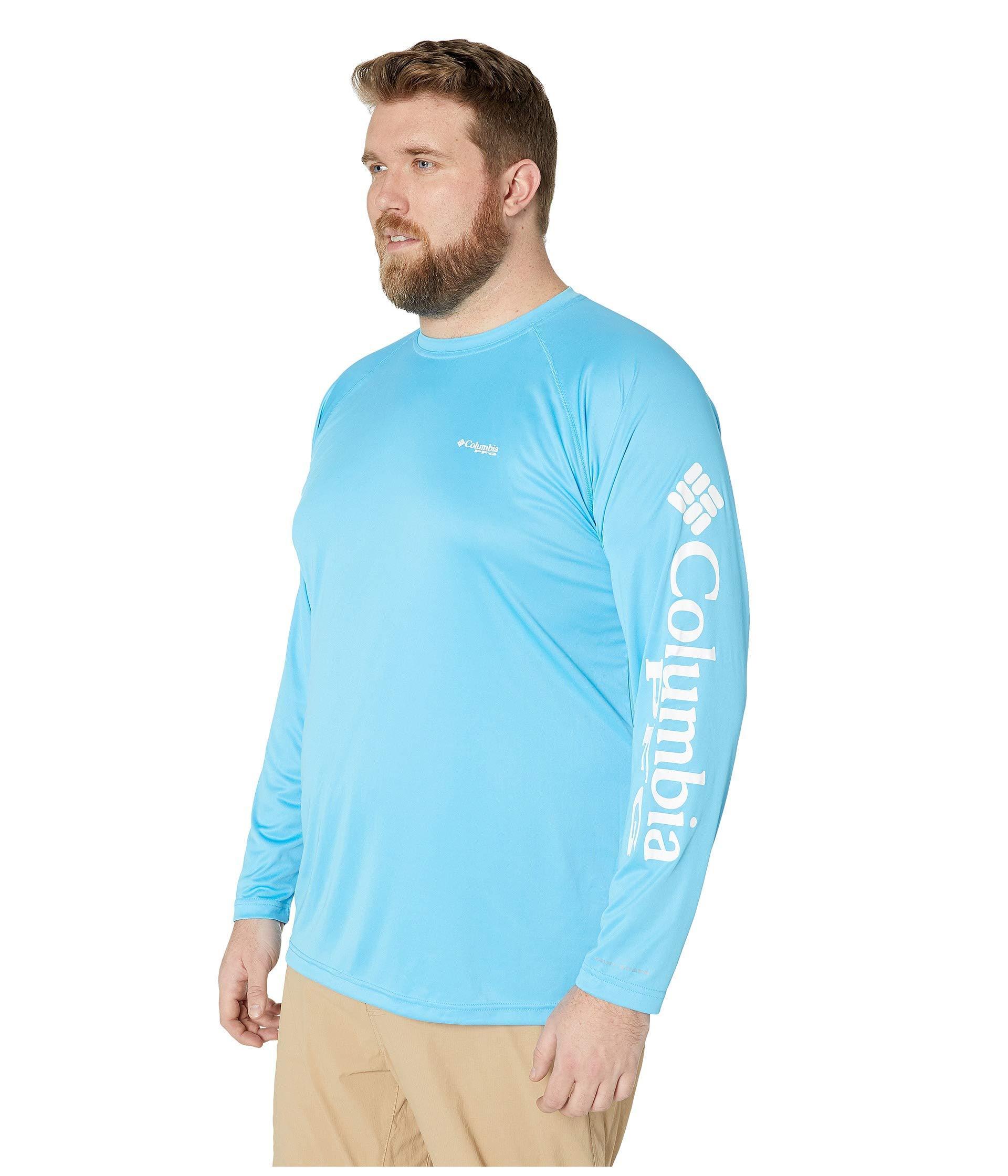 9bdef014d92 Lyst - Columbia Big Tall Terminal Tackletm L/s Shirt (clean Green/vivid  Blue Logo) Men's Long Sleeve Pullover in Blue for Men