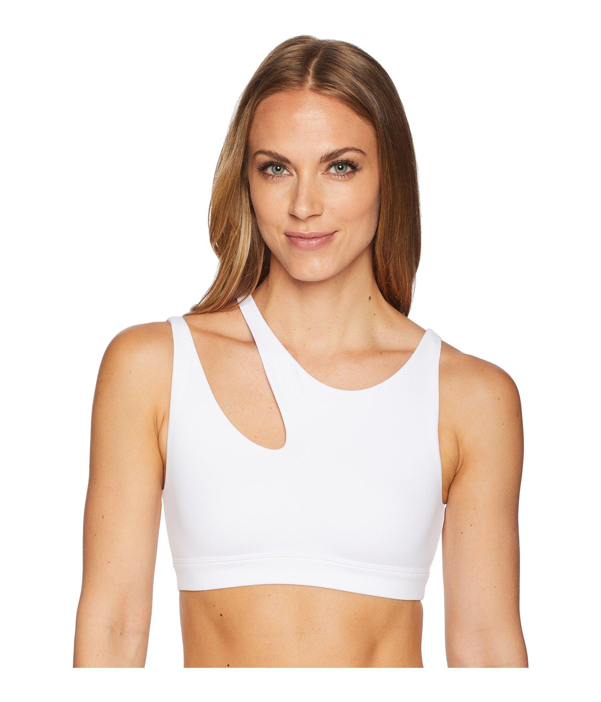 e5dd76ce78 Lyst - Alo Yoga Peak Bra (anthracite) Women s Bra in White